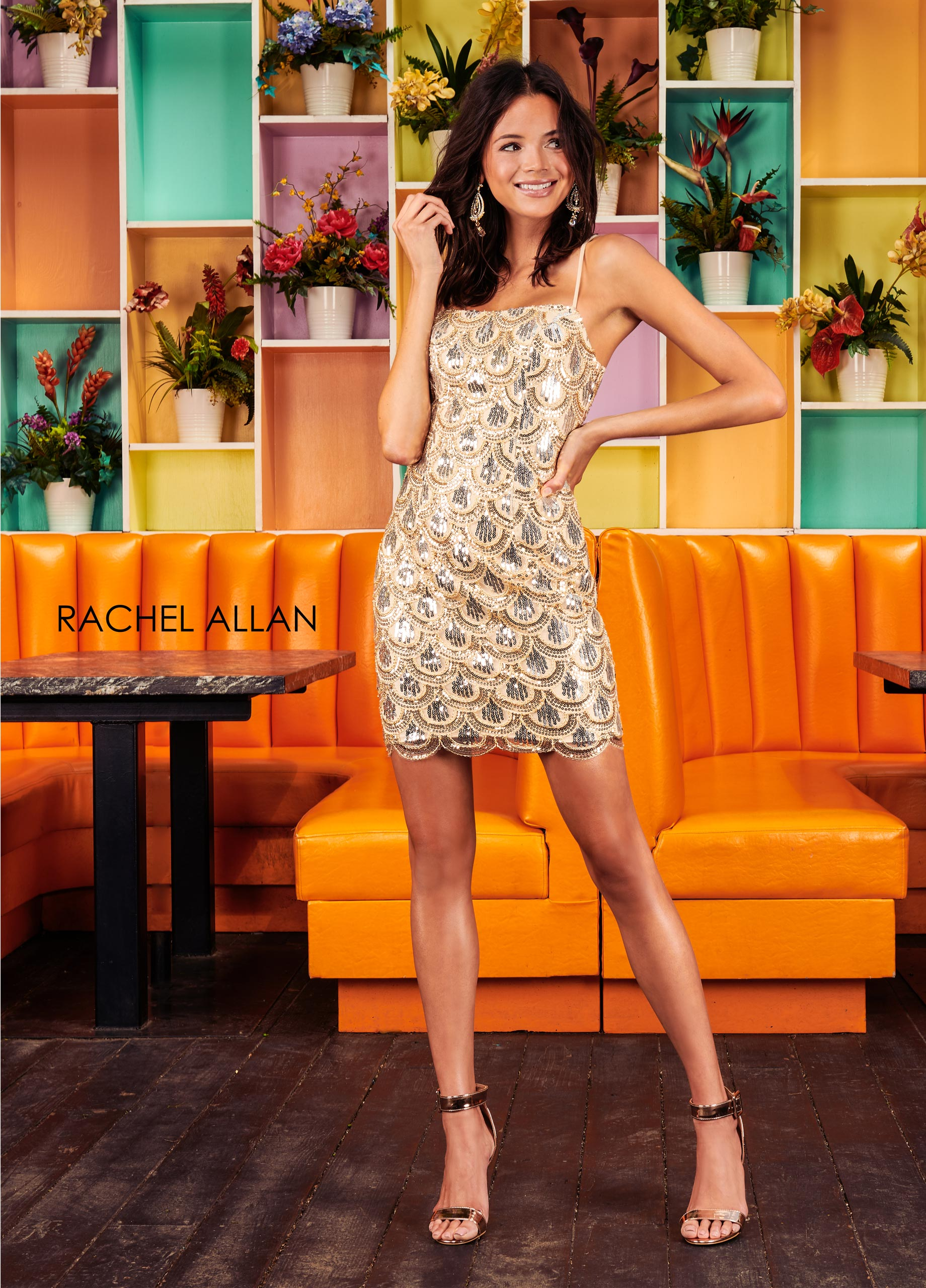 Square Fitted Mini Homecoming Dresses in Nude Color