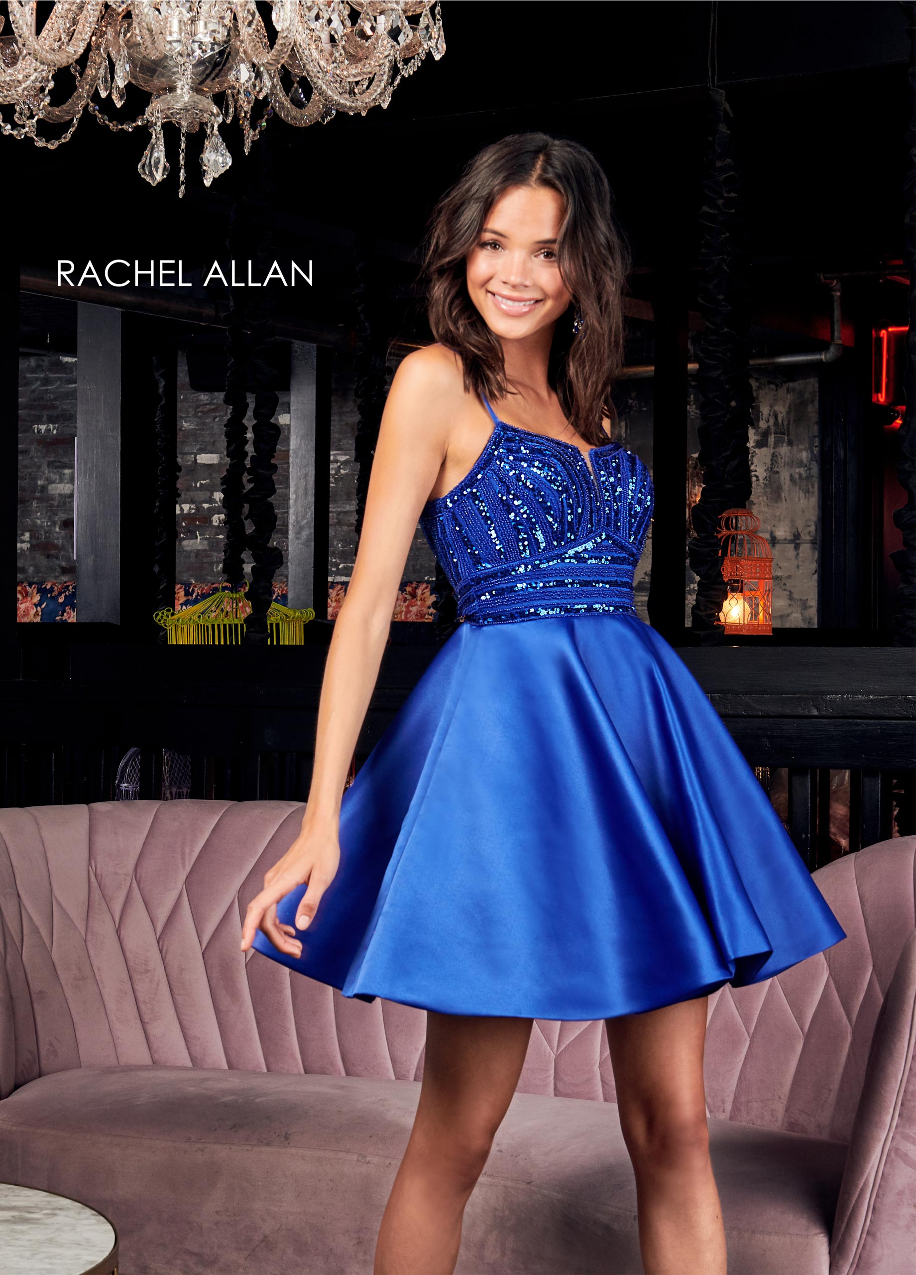 Scoop Neck A-Line Homecoming Dresses in Royal Color