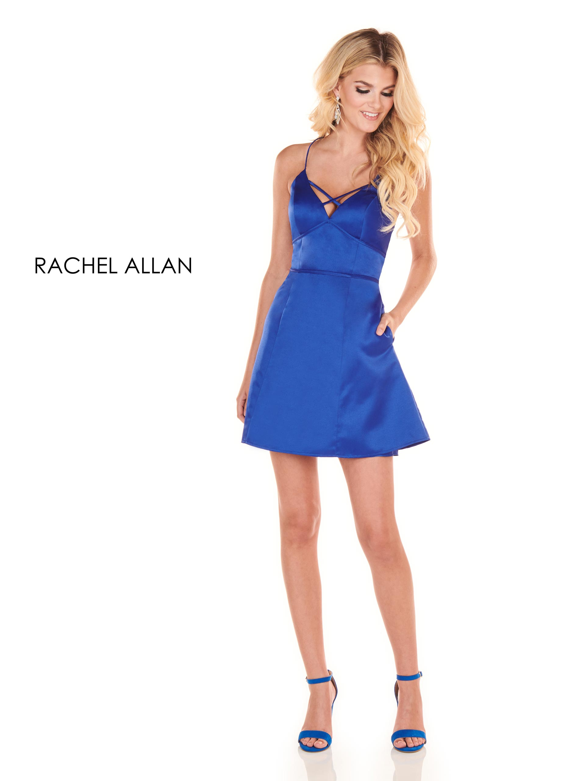 Strappy A-Line Homecoming Dresses in Royal Color
