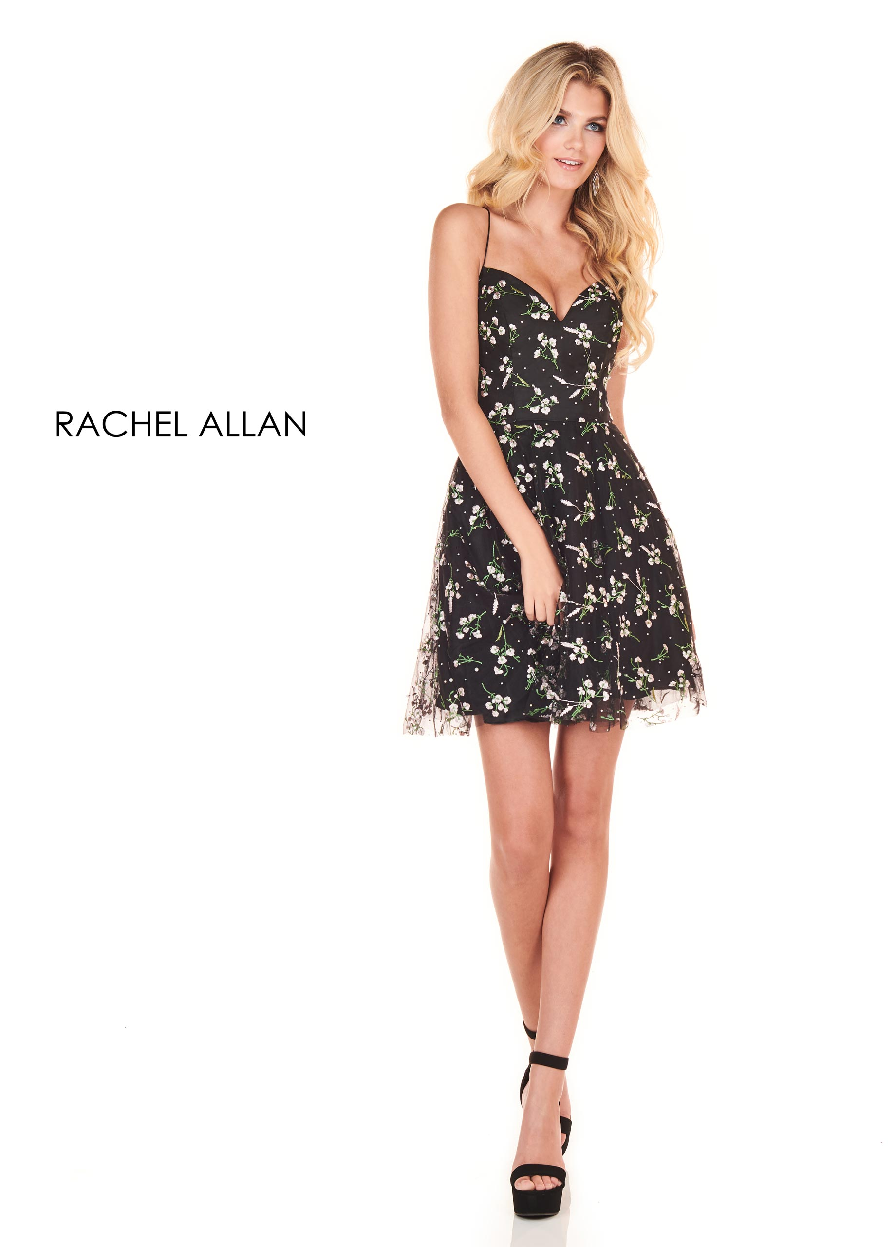 Sweetheart A-Line Homecoming Dresses in Black Color