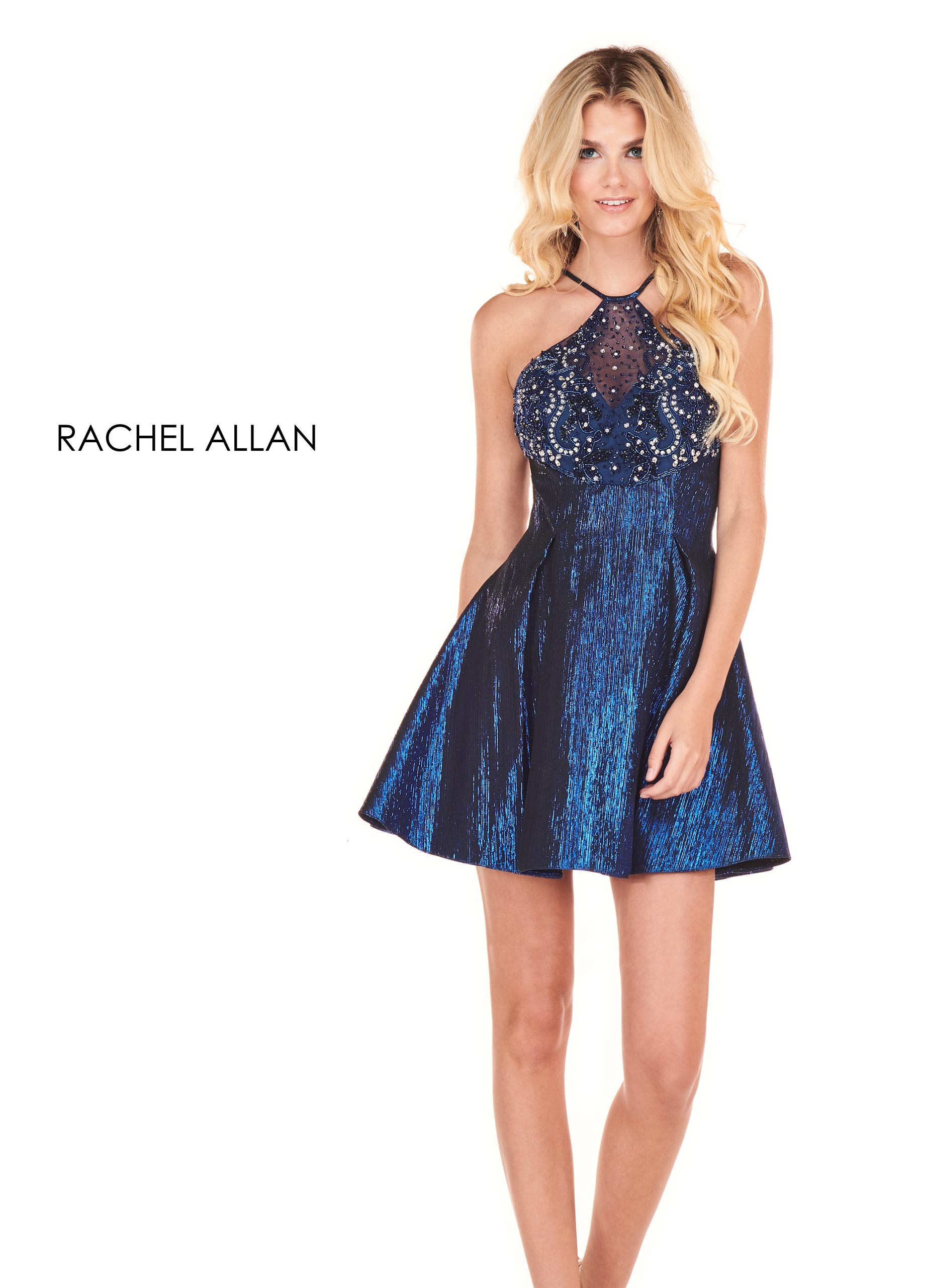 Halter A-Line Homecoming Dresses in Royal Color