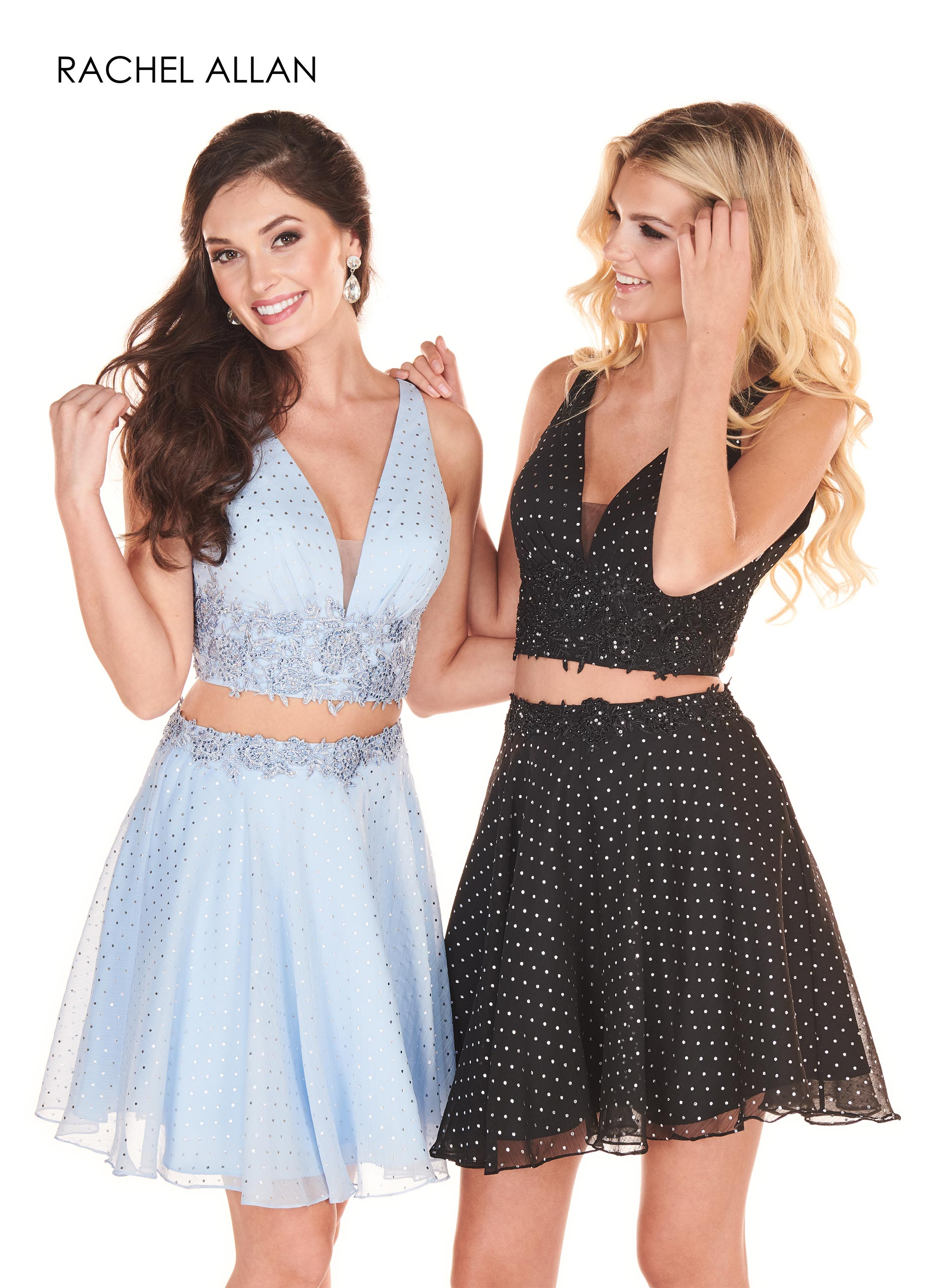 V-Neck A-Line Homecoming Dresses in Blue Color