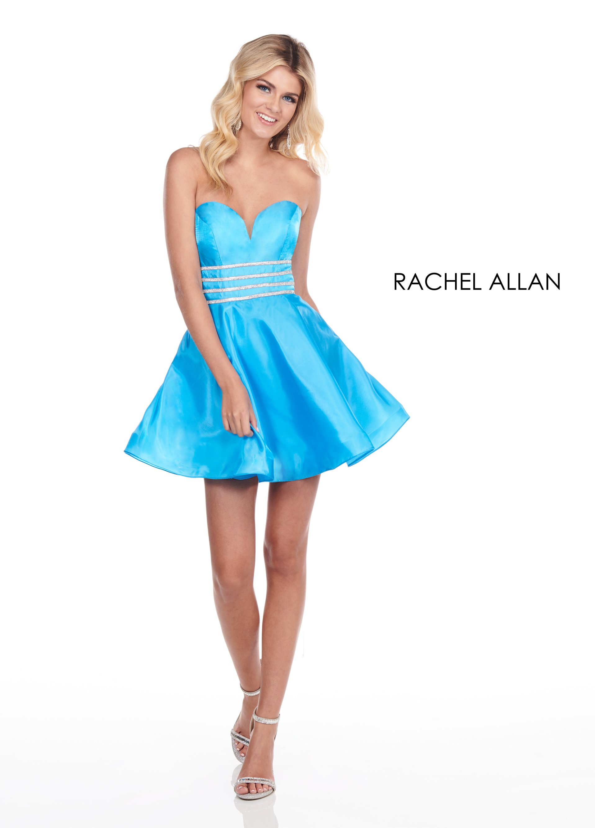 Sweetheart A-Line Homecoming Dresses in Blue Color