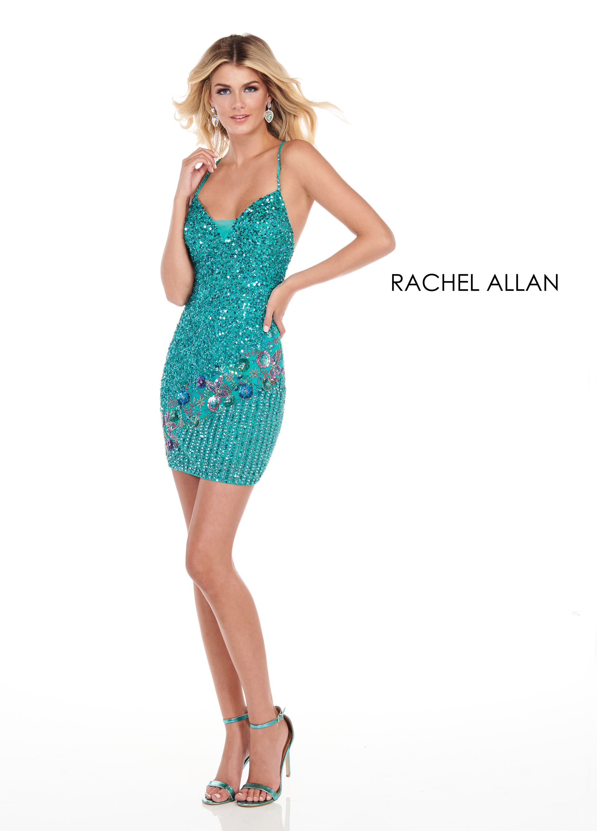 Sweetheart Fitted Mini Homecoming Dresses in Turquoise Color