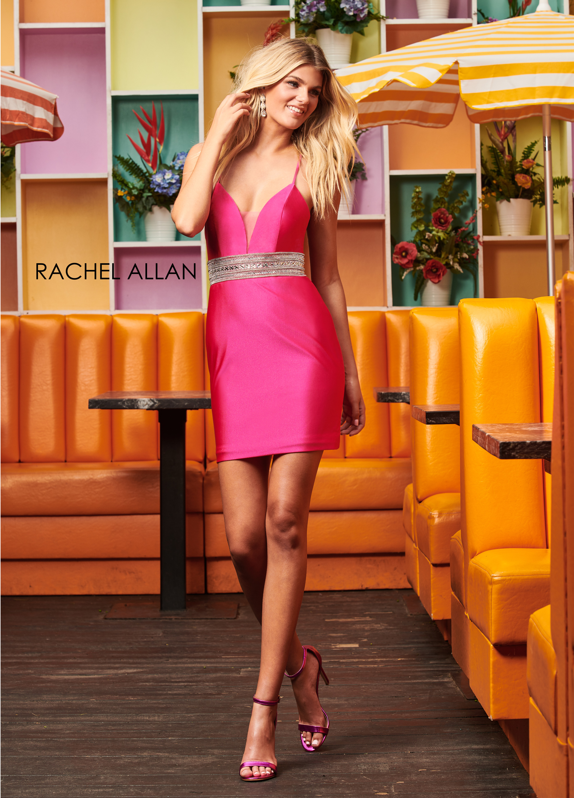 Sweetheart Fitted Mini Homecoming Dresses in Fuchsia Color
