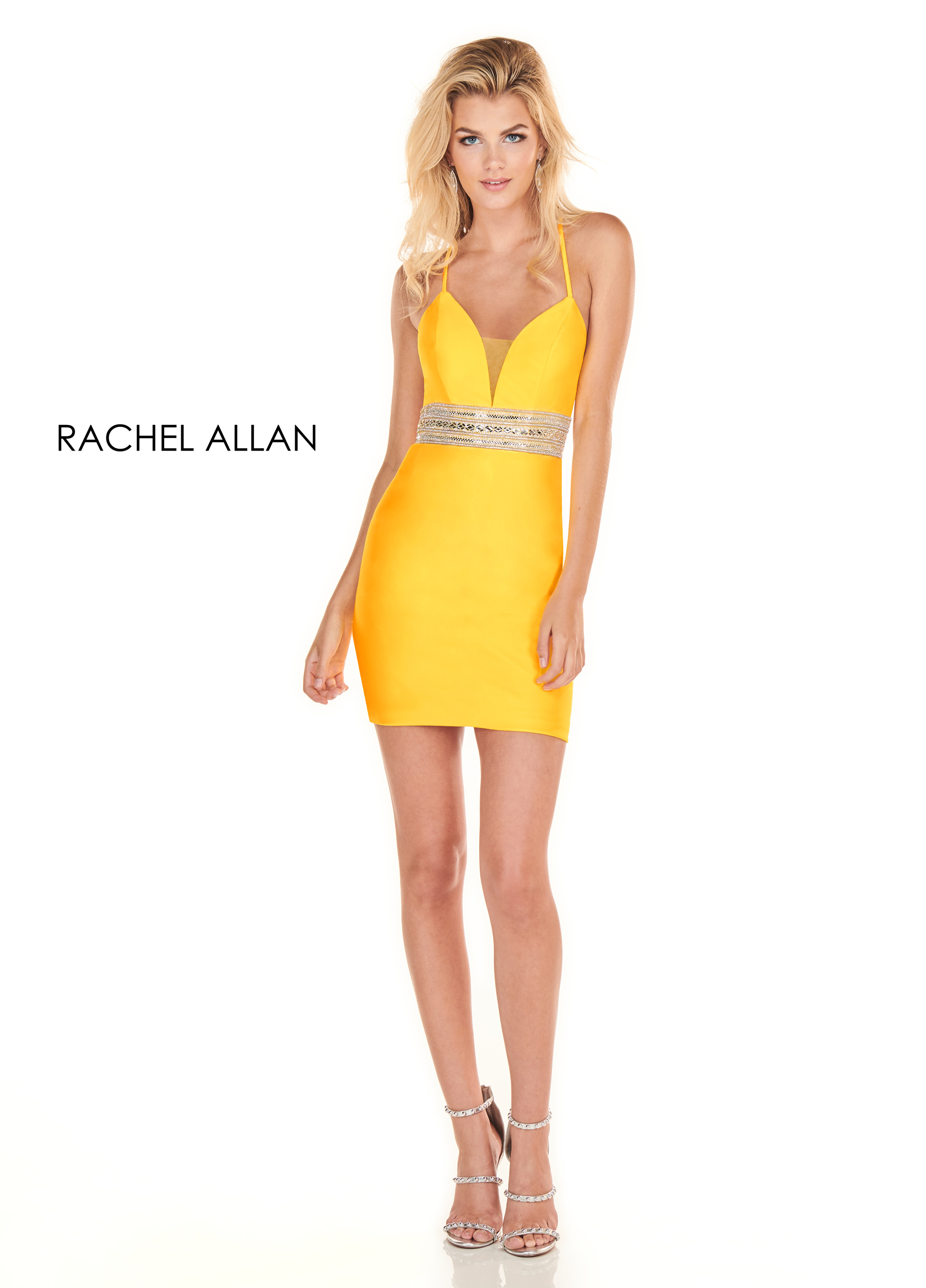 Sweetheart Fitted Mini Homecoming Dresses in Yellow Color