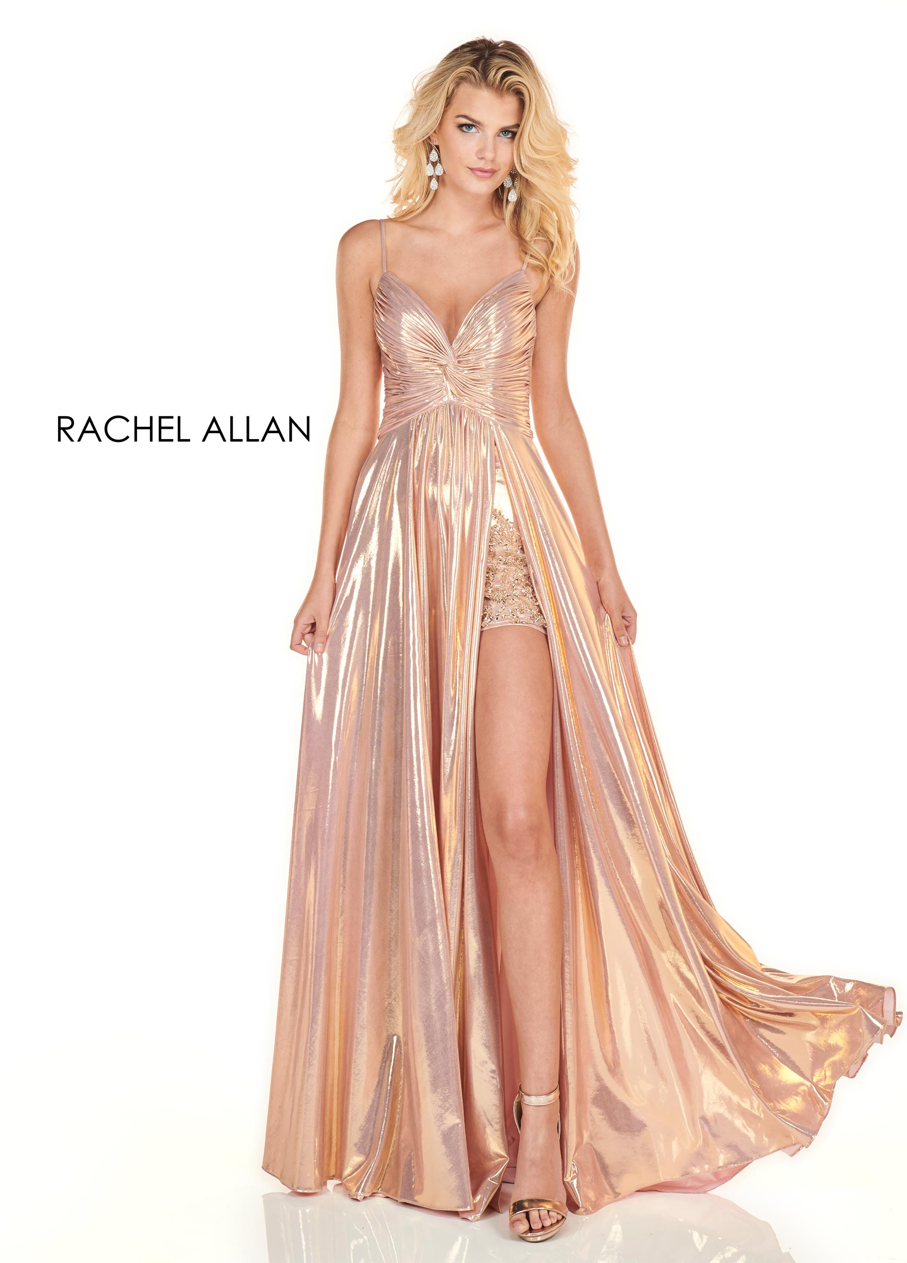 Sweetheart Shorts With Overlay Homecoming Dresses in Rose Gold Color
