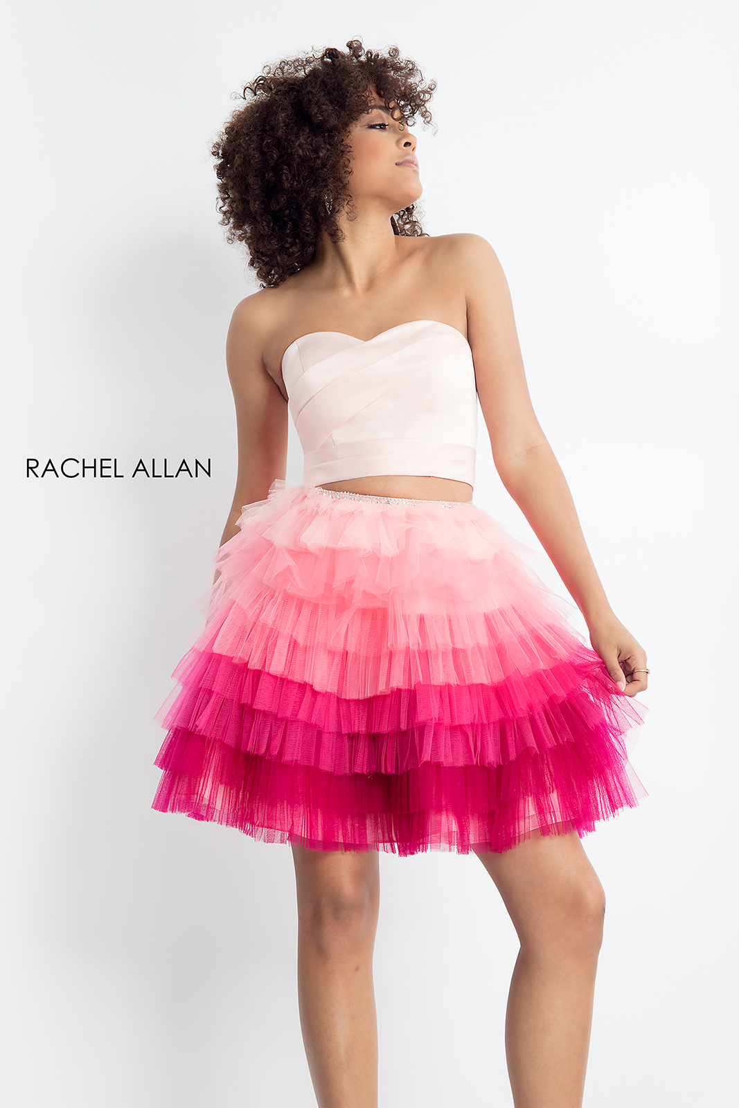 Strapless A-Line Homecoming Dresses in Pink Color