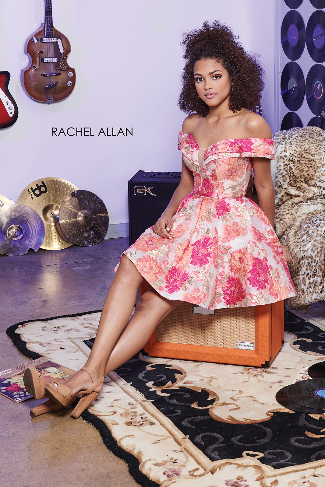Off The Shoulder A-Line Homecoming Dresses in Coral Color