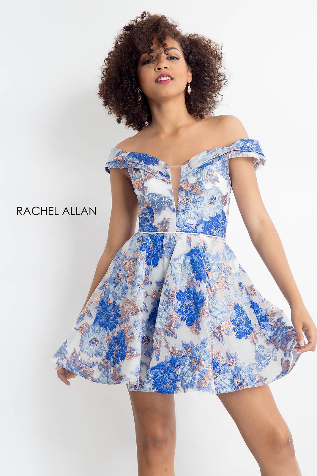 Off The Shoulder A-Line Homecoming Dresses in Royal Color