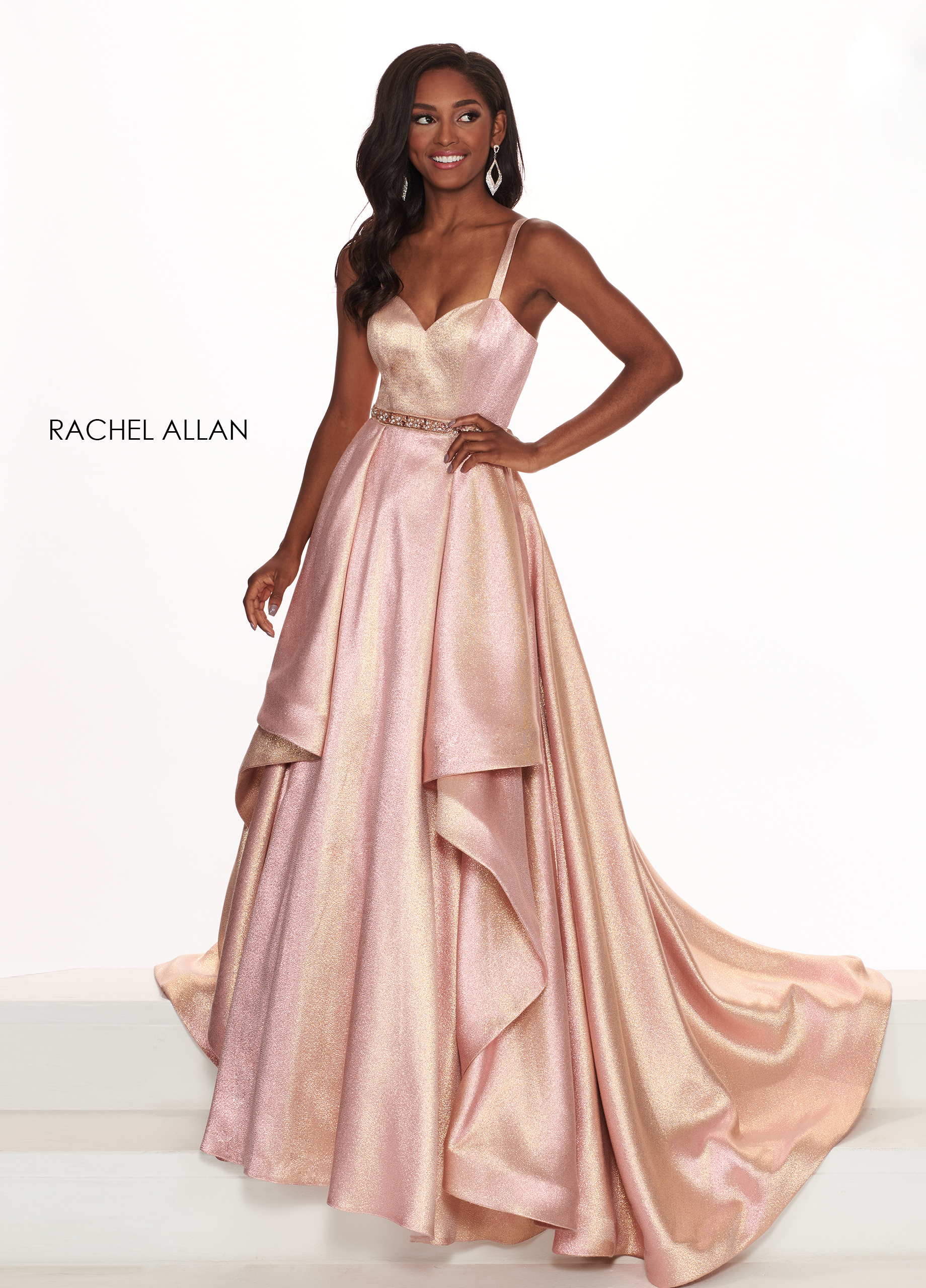 Sweetheart Fit & Flare Pageant Dresses in Pink Color