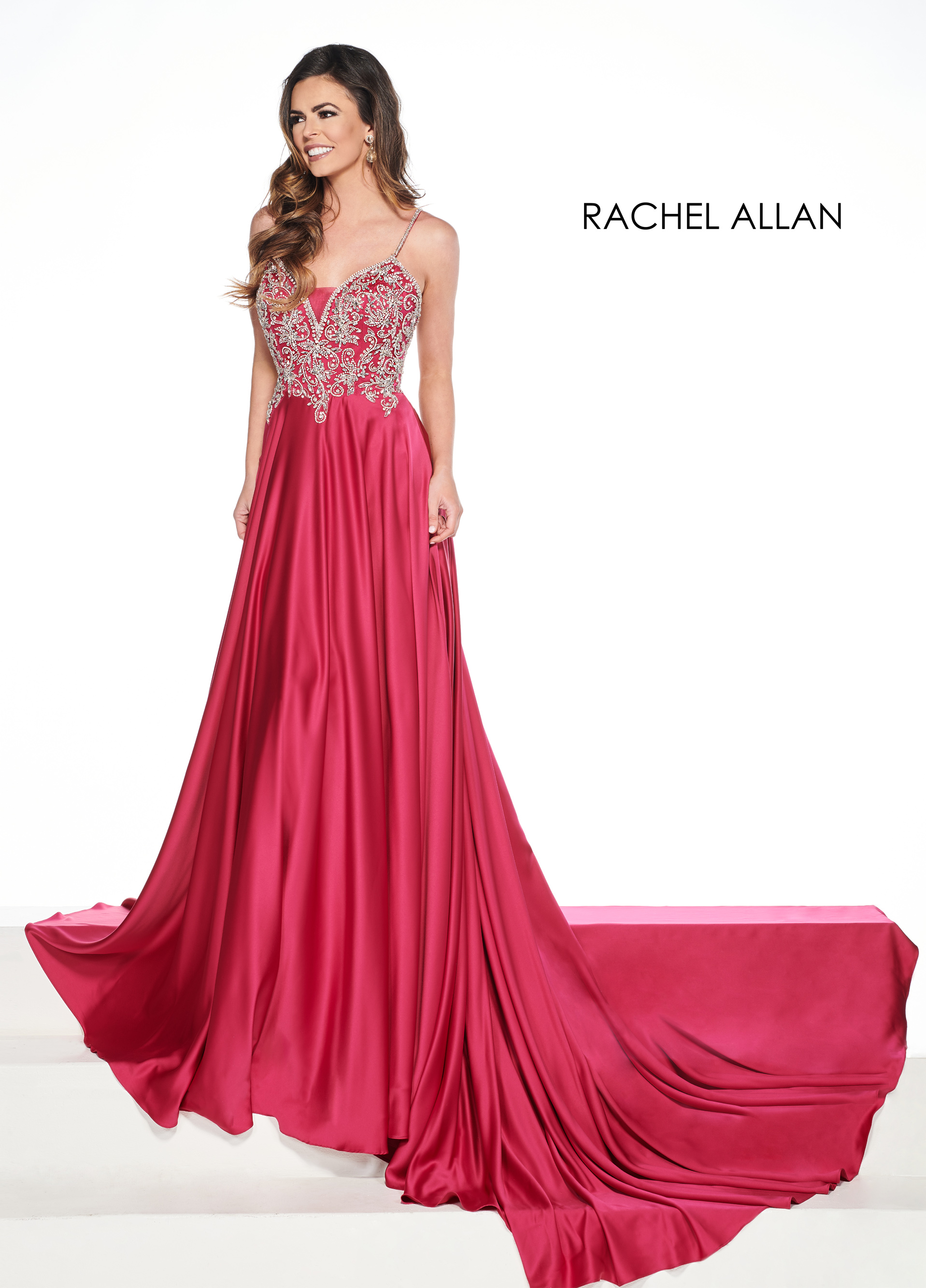 Sweetheart A-Line Pageant Dresses in Magenta Color