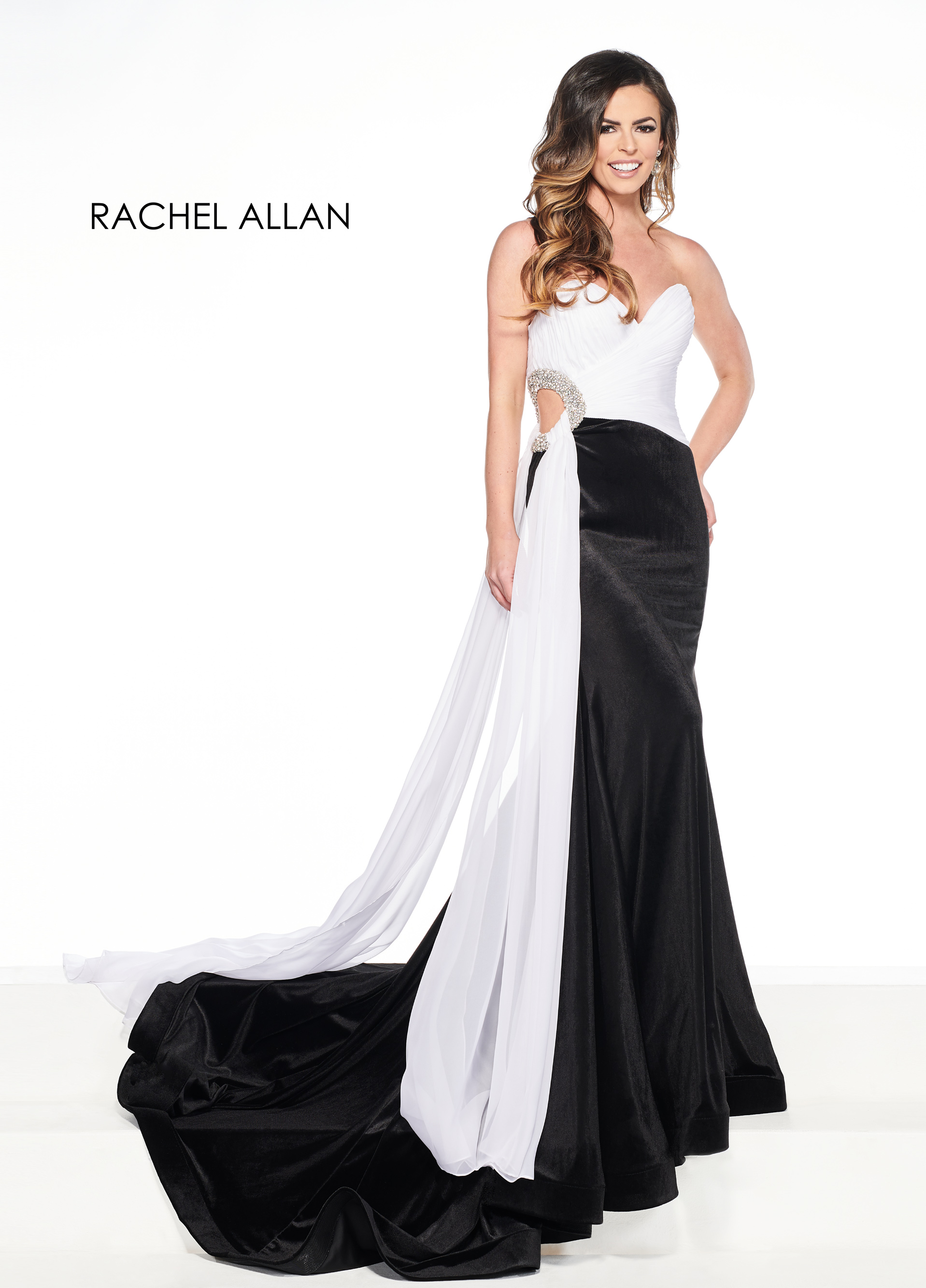 Sweetheart Fit & Flare Pageant Dresses in Black Color