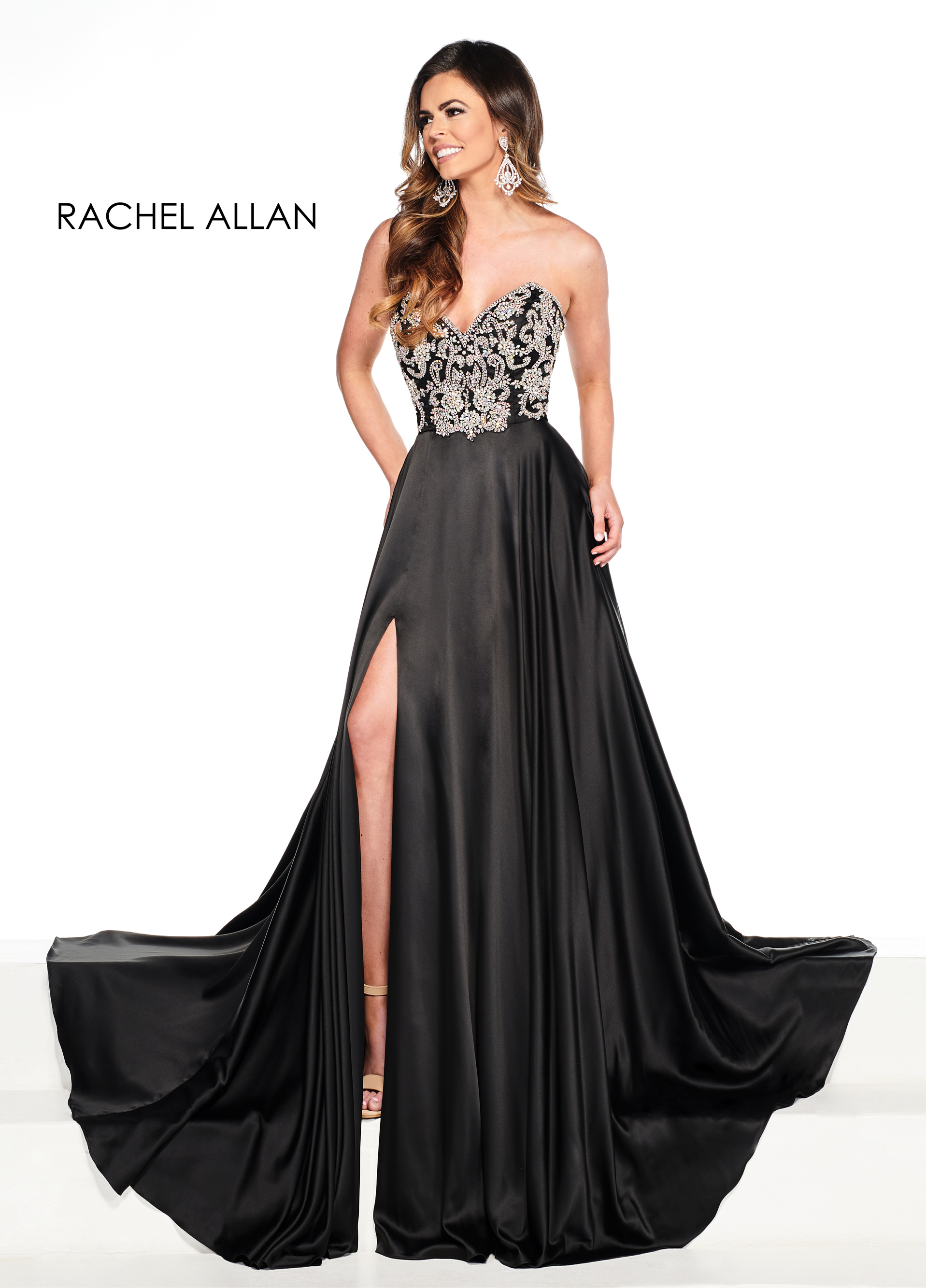 Sweetheart A-Line Pageant Dresses in Black Color