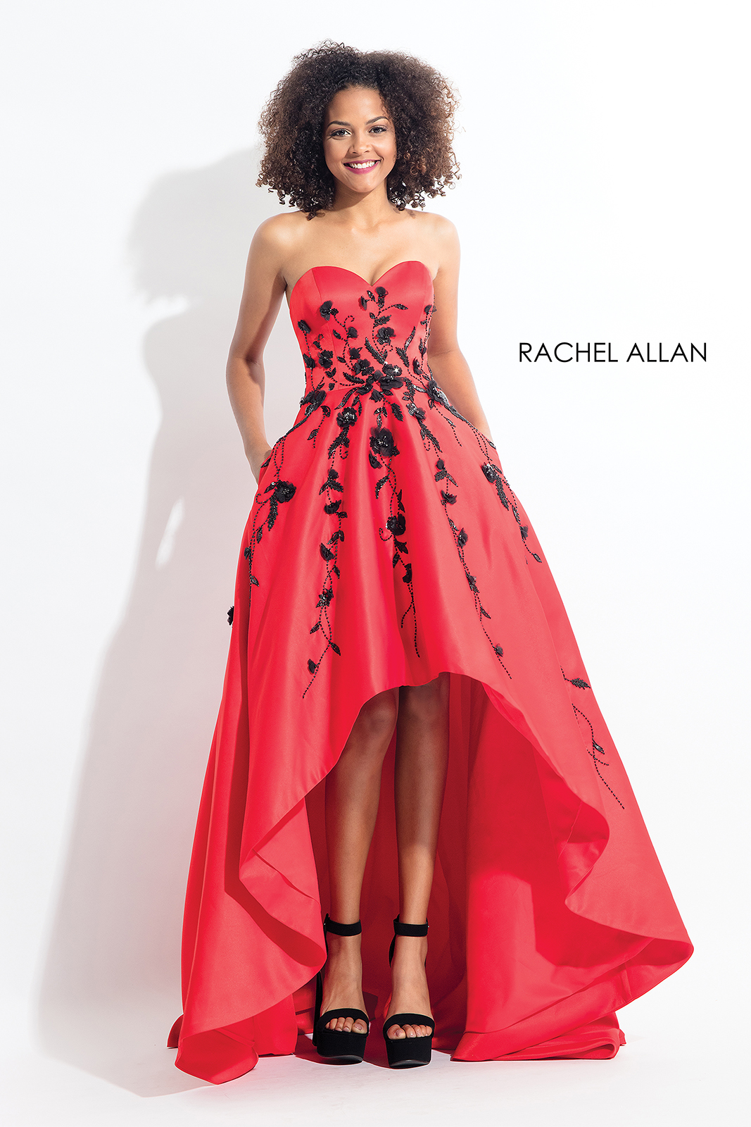Sweetheart Ball Gowns Prom Dresses in Red Color