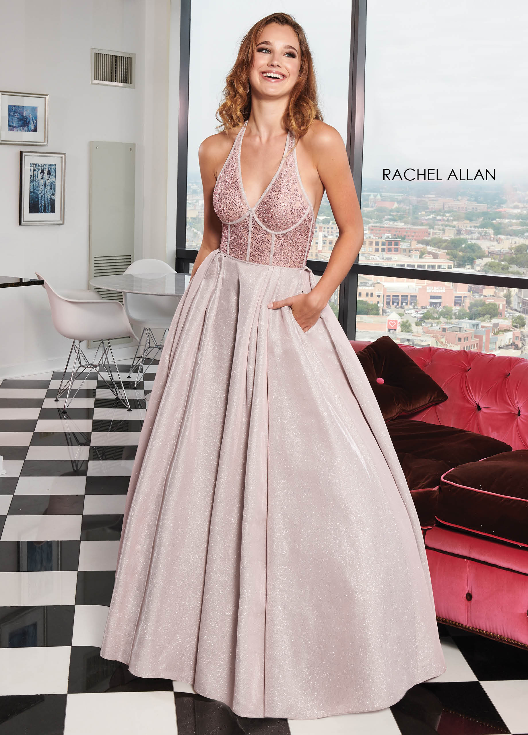 Halter Ball Gowns BEST SELLERS in Pink Color