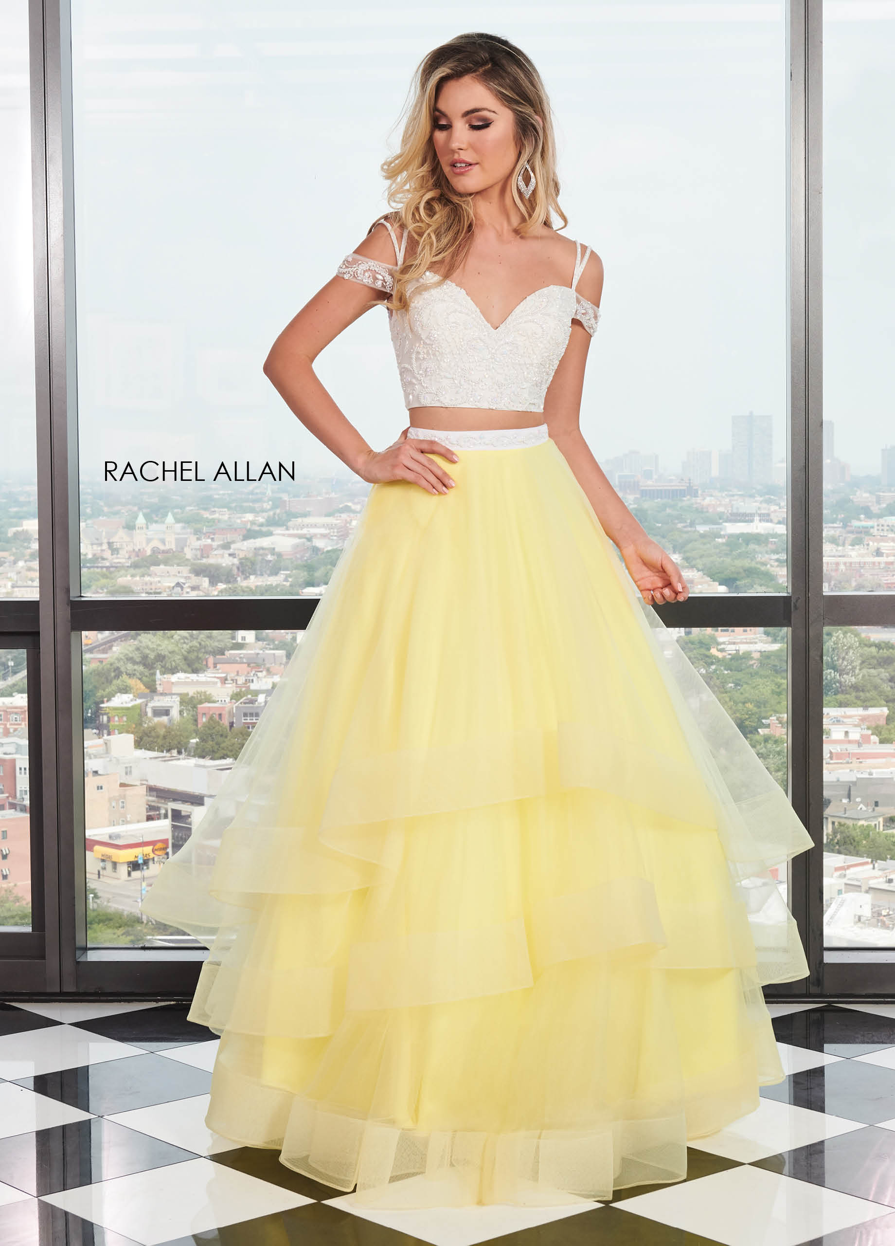 Off The Shoulder Two-Piece BEST SELLERS in Yellow Color
