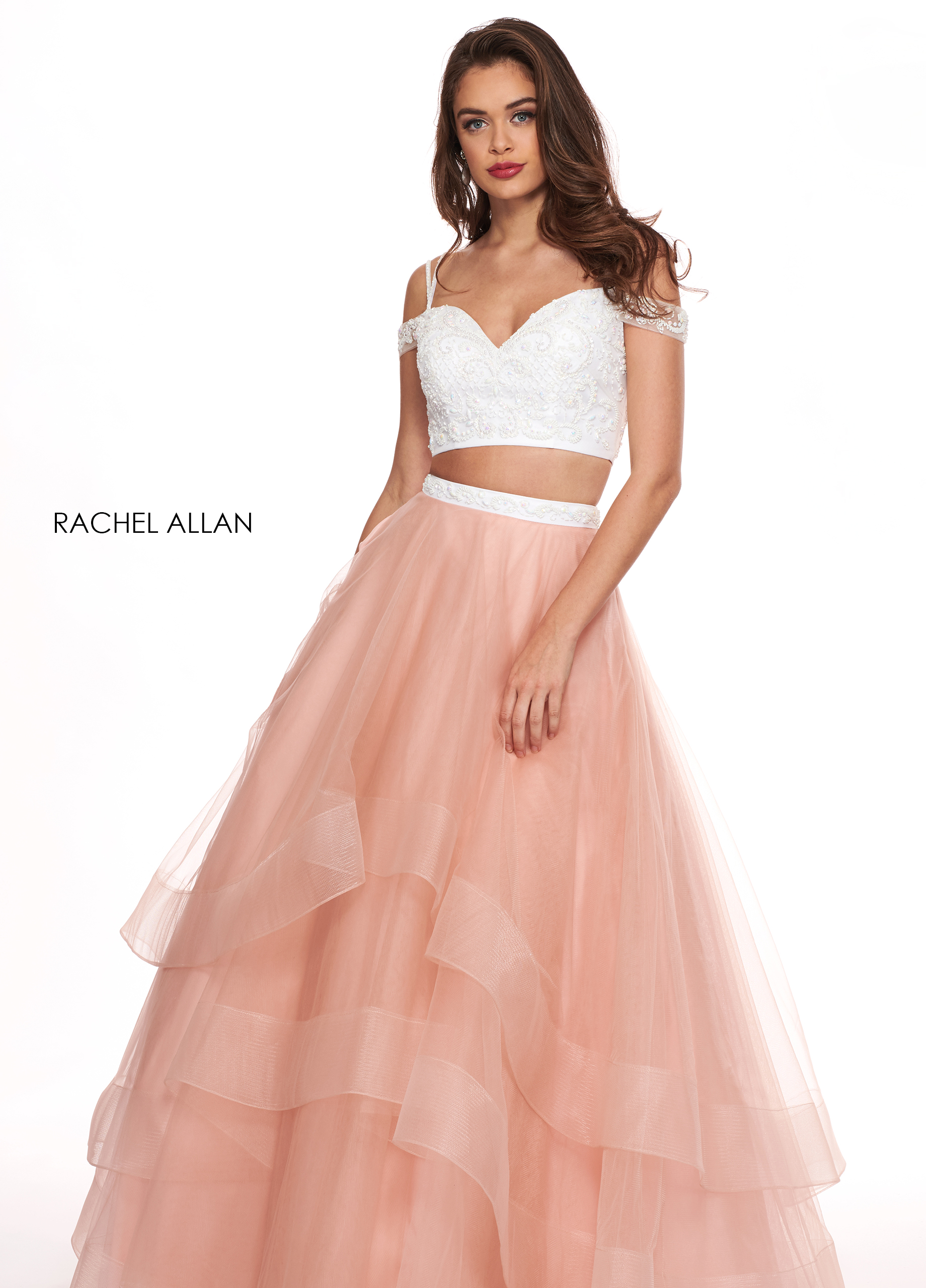 Off The Shoulder Two-Piece BEST SELLERS in Coral Color