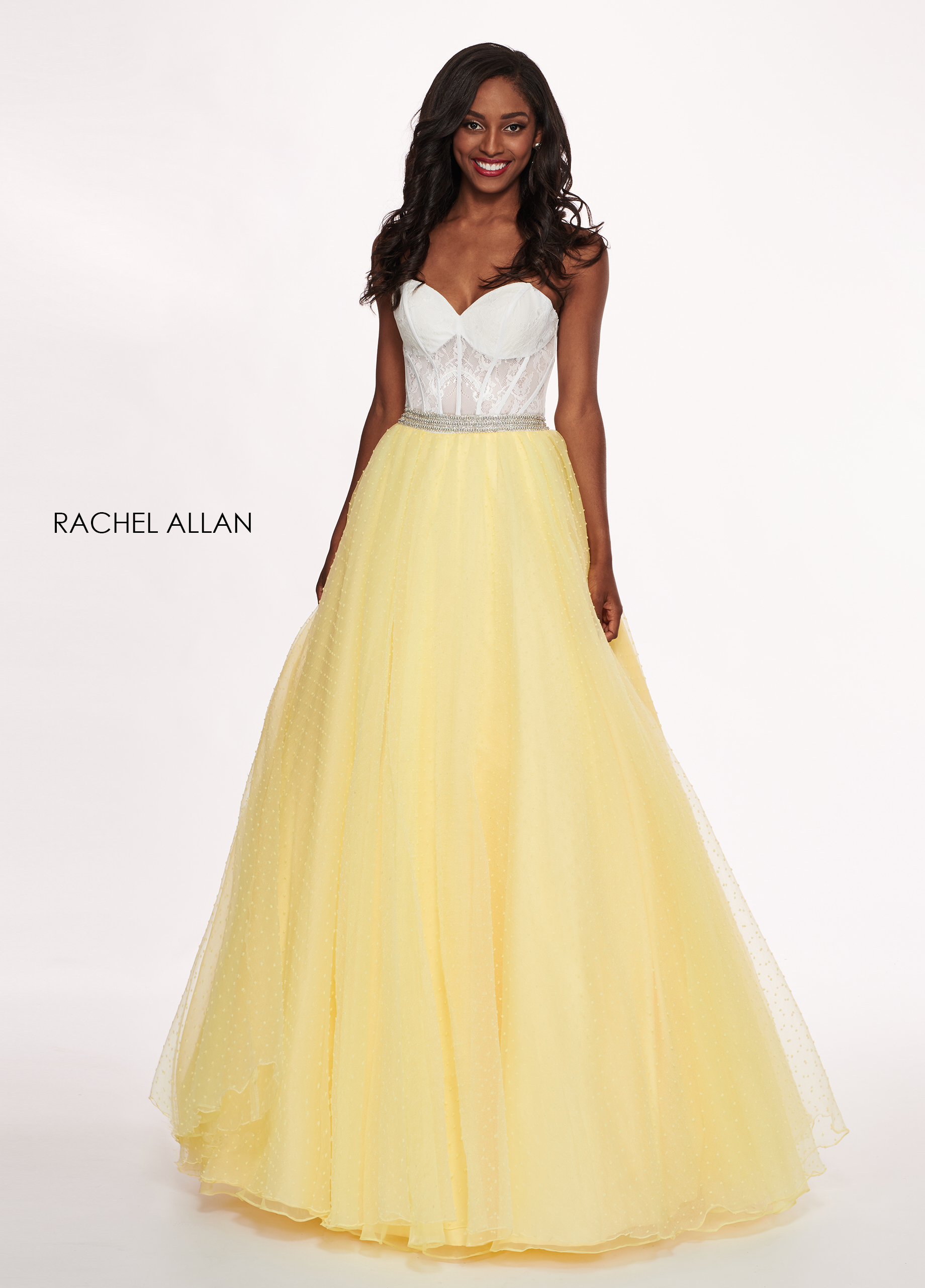 Sweetheart Ball Gowns Prom Dresses in Yellow Color