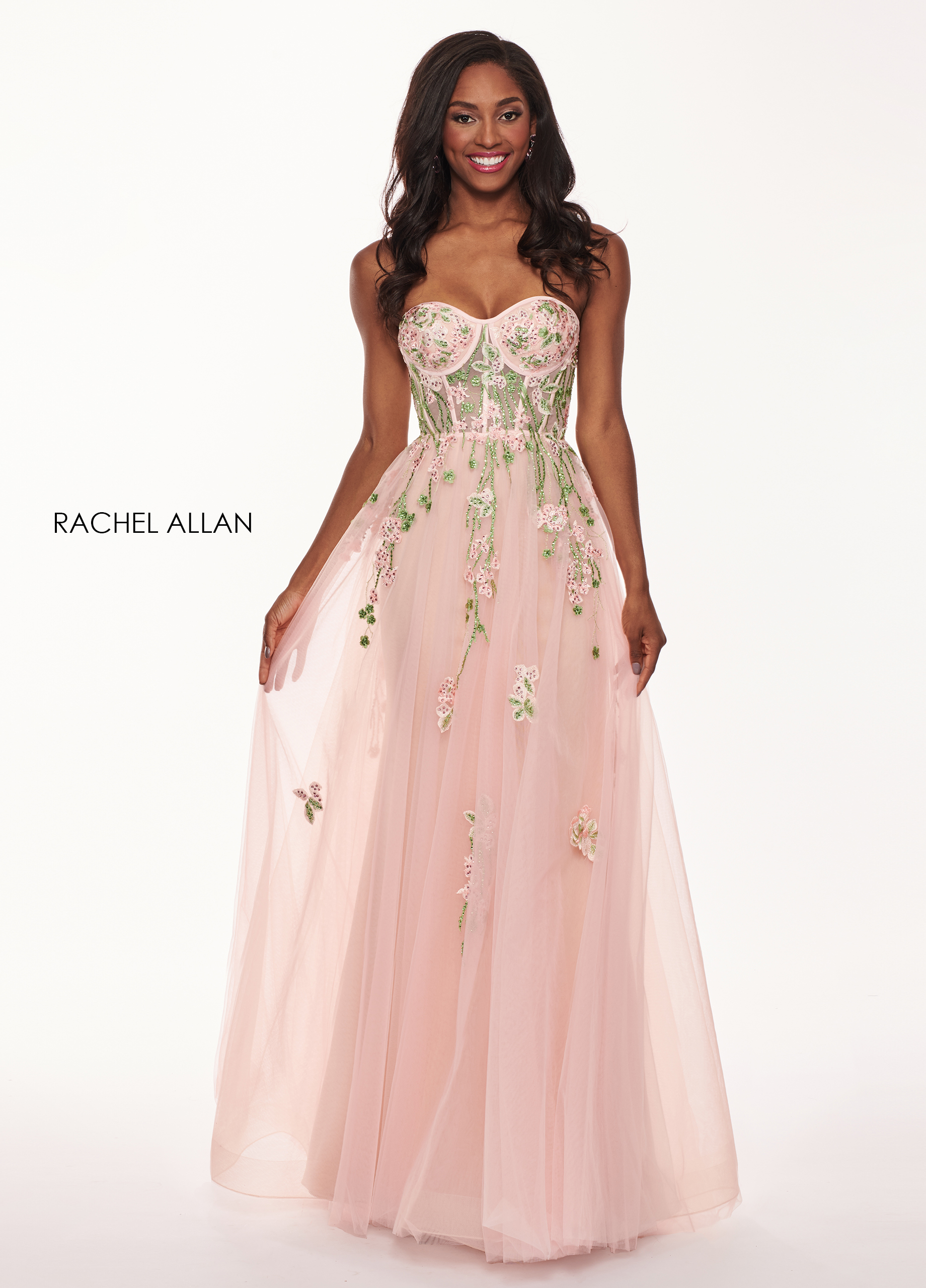 Sweetheart A-Line Prom Dresses in Blush Color
