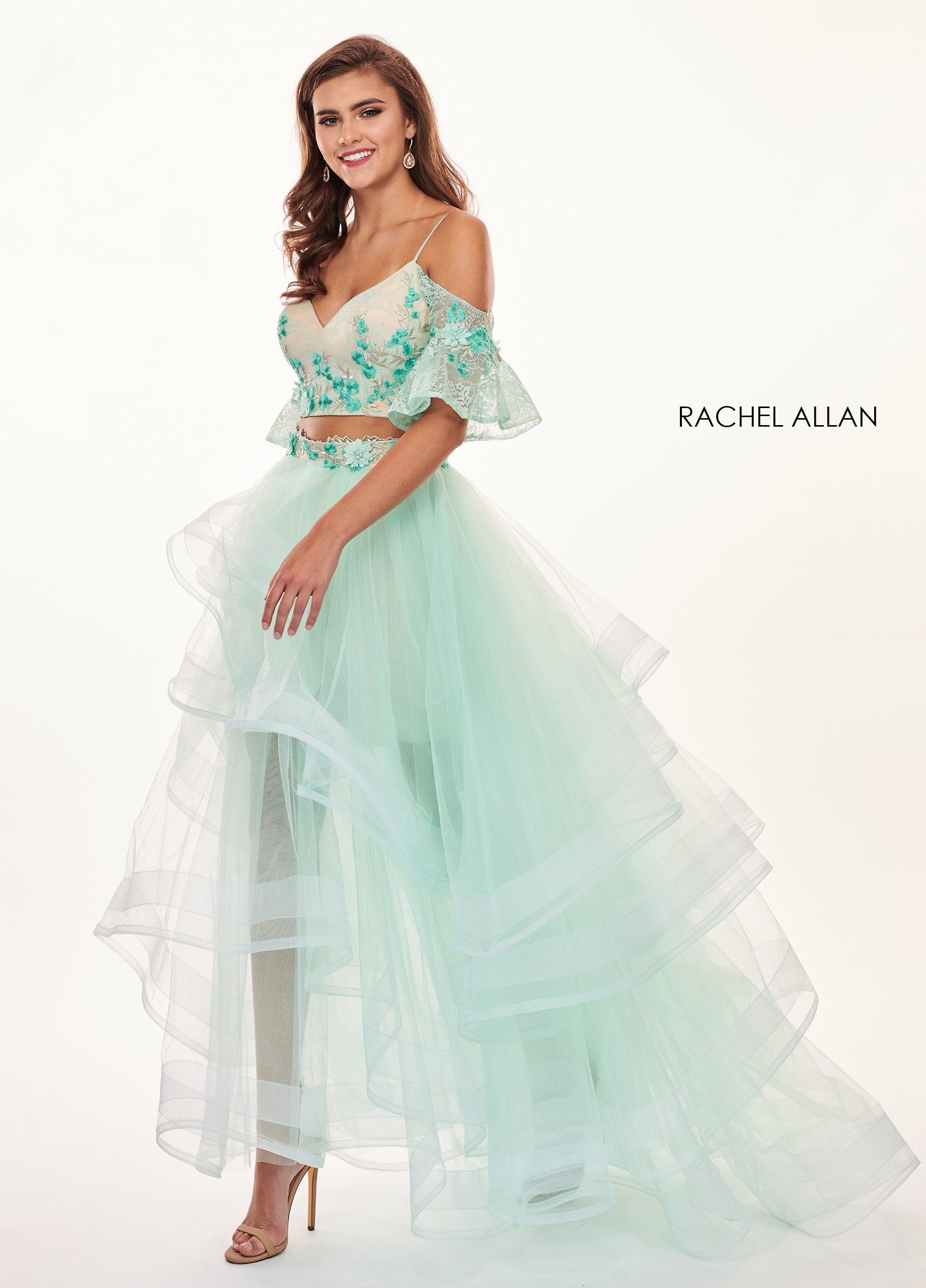 Sweetheart Ball Gowns Prom Dresses in Mint Color