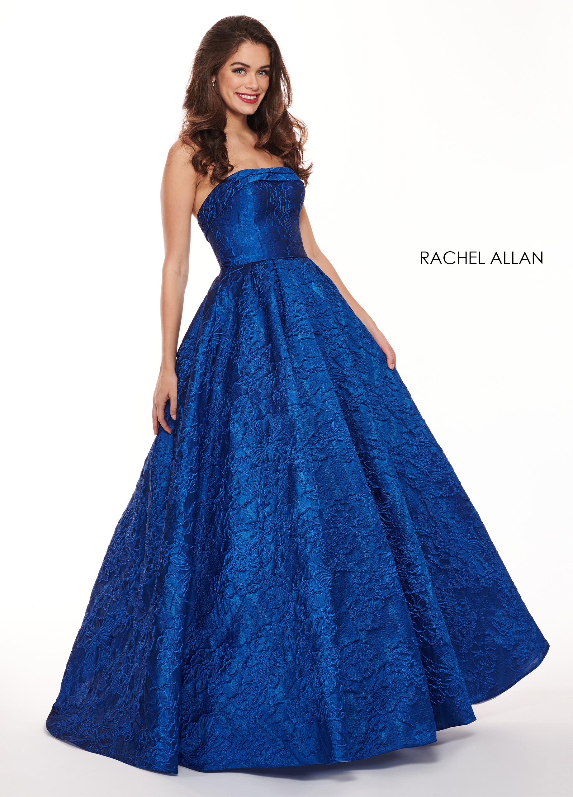 Strapless Ball Gowns Prom Dresses in Royal Color