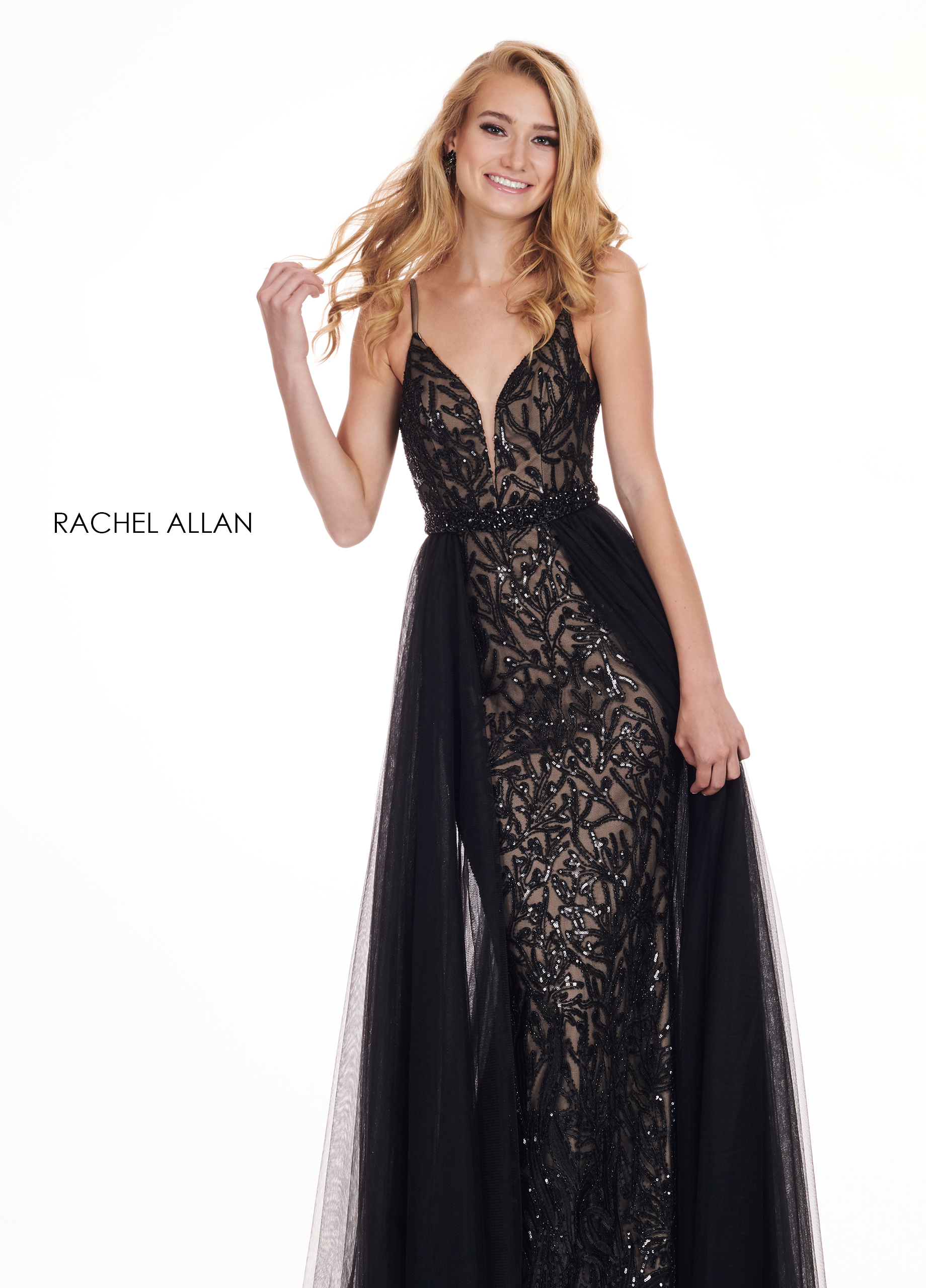 Sweetheart Fitted Long Prom Dresses in Black Color