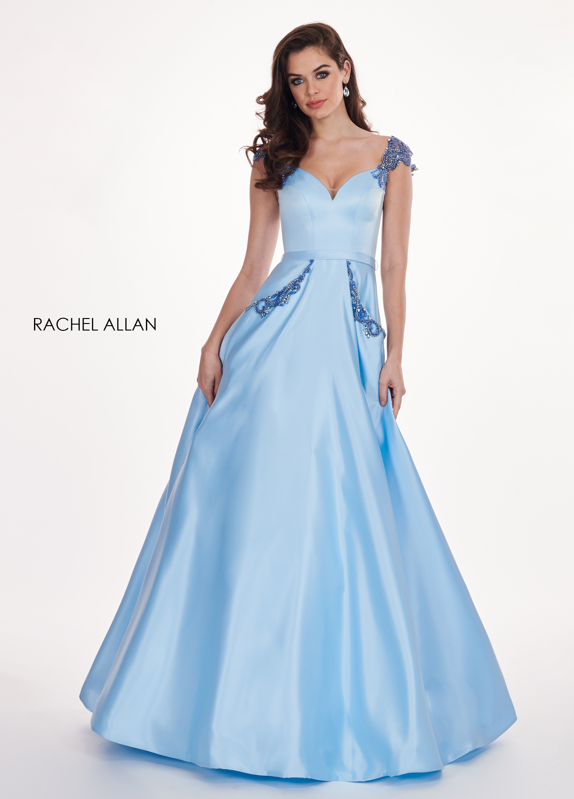 Sweetheart A-Line Prom Dresses in Blue Color