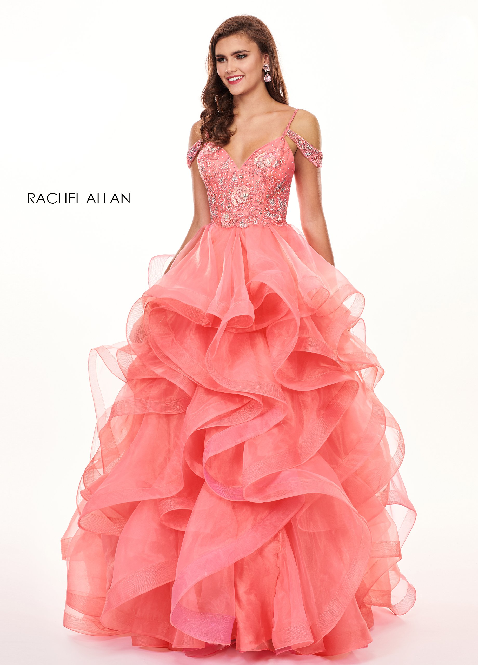 Sweetheart Ball Gowns Prom Dresses in Coral Color