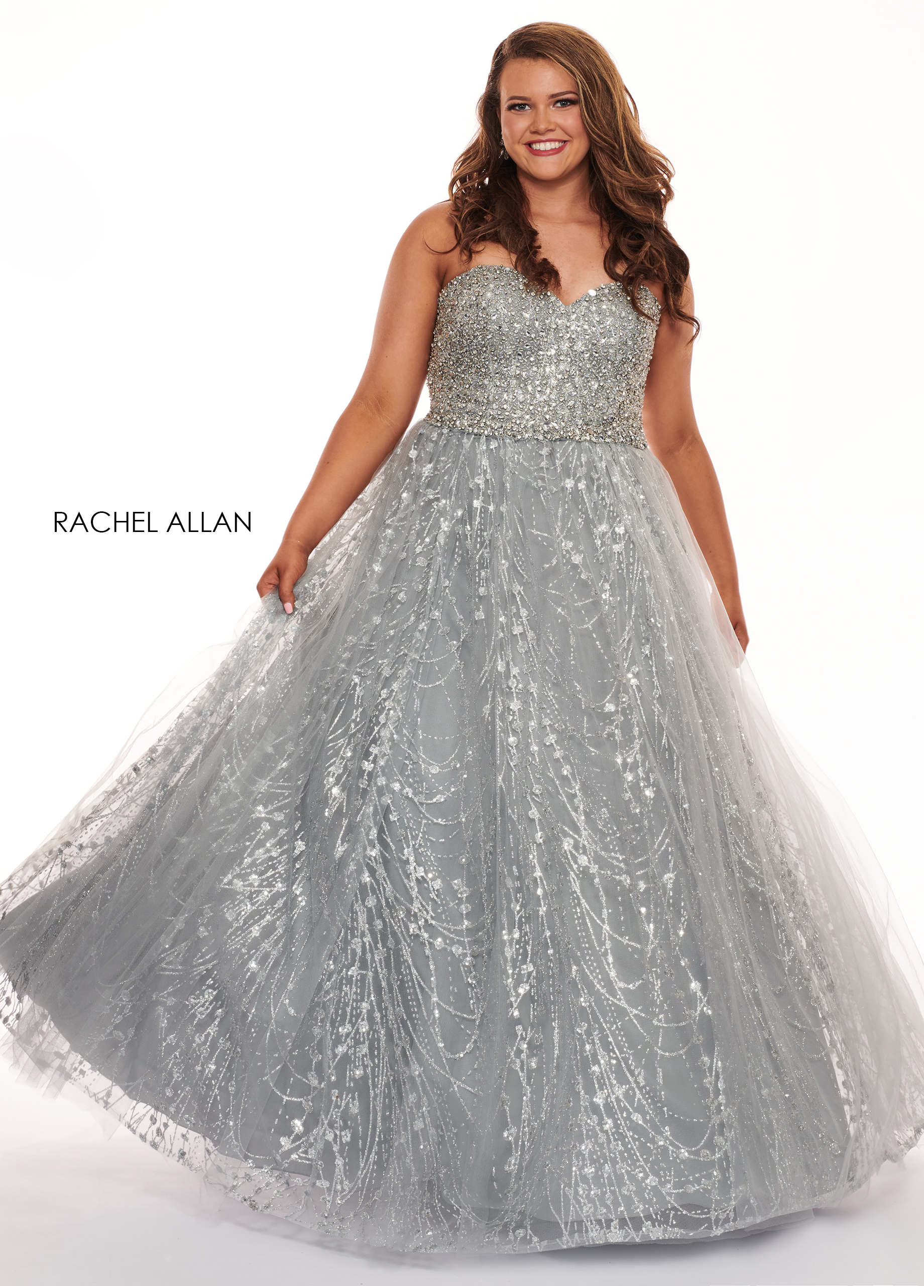 Sweetheart Ball Gowns Plus Size Dresses in Grey Color