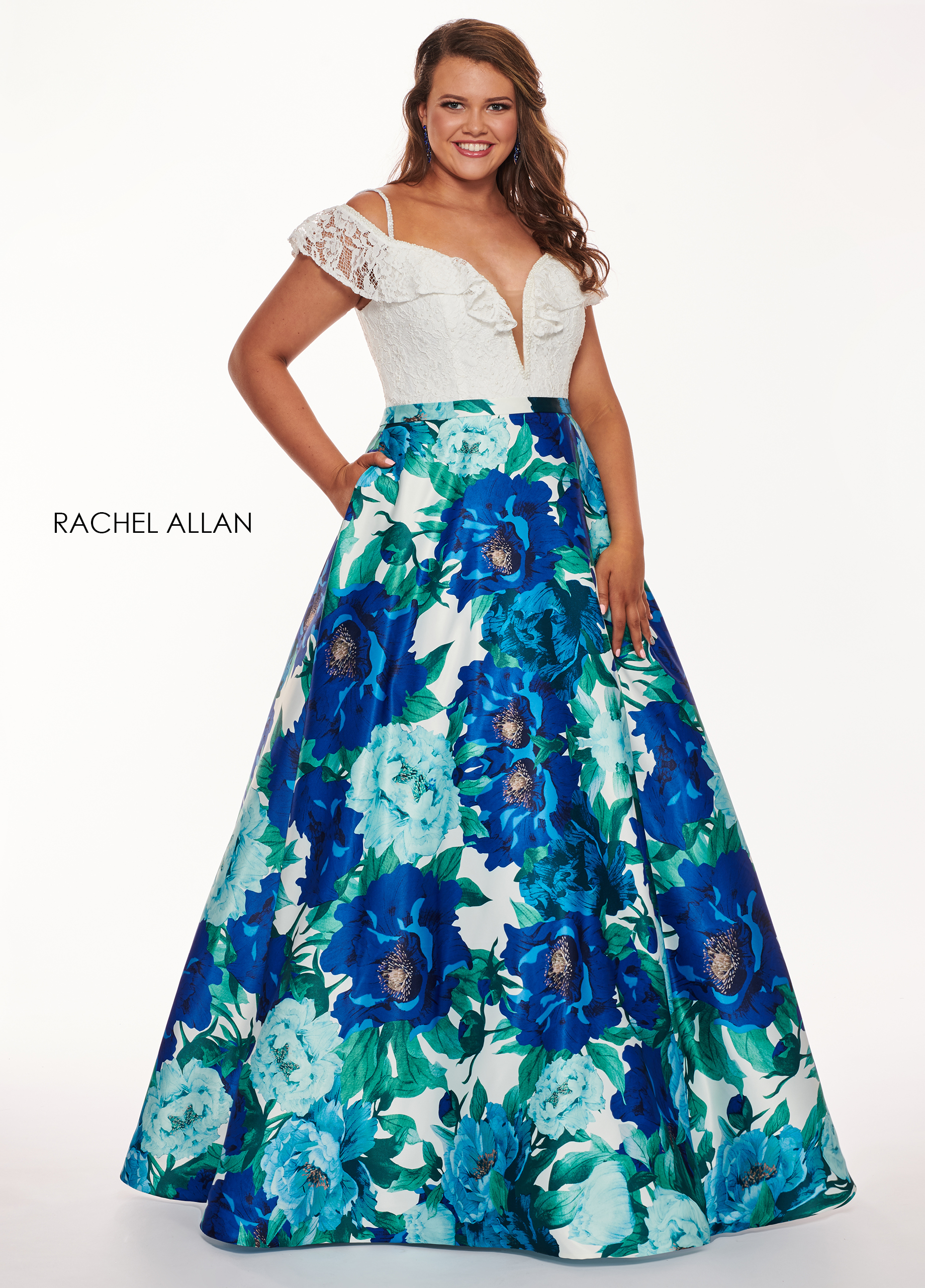 Sweetheart Ball Gowns Plus Size Dresses in Royal Color