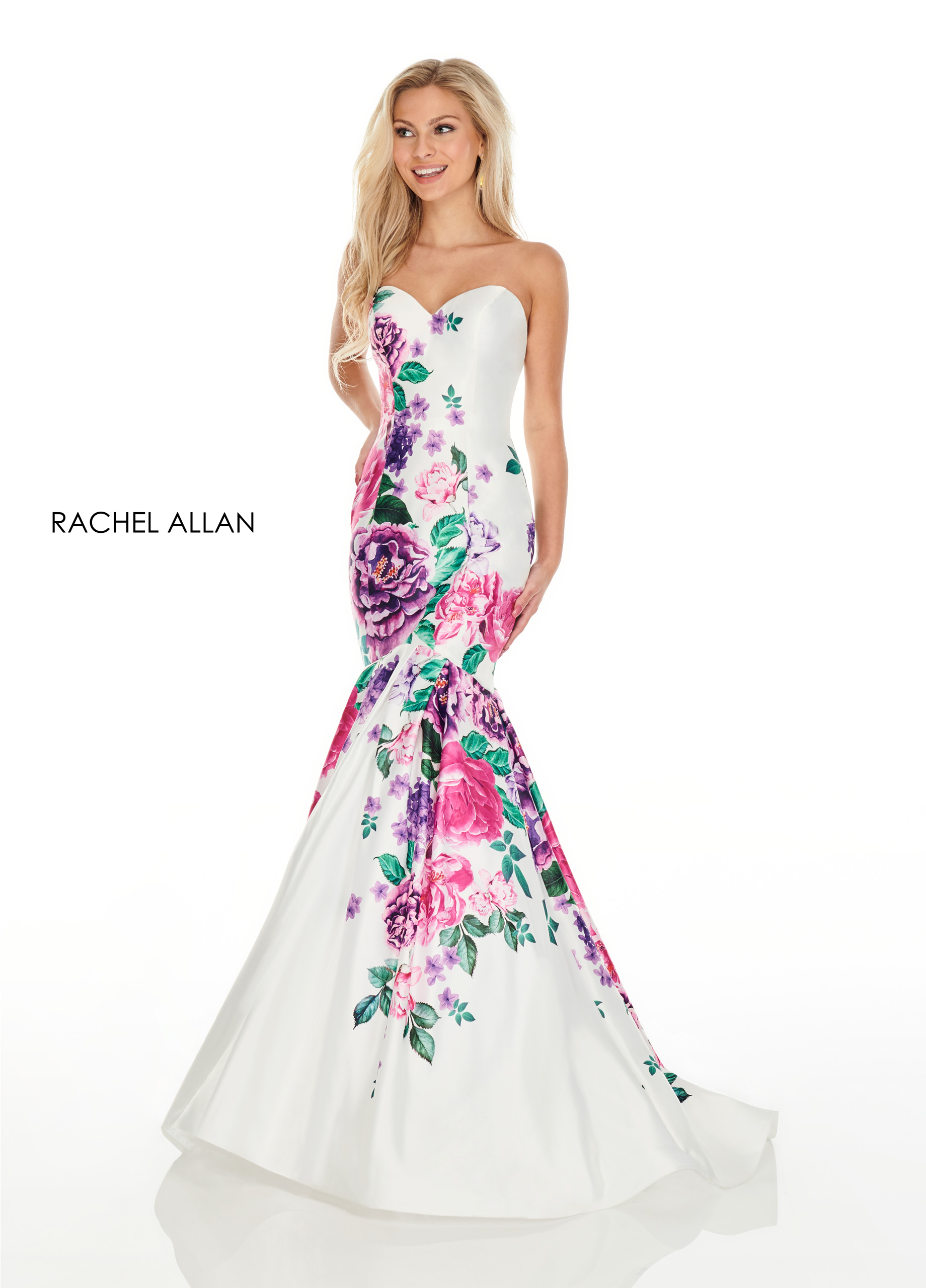 Sweetheart Mermaid Prom Dresses in White Color