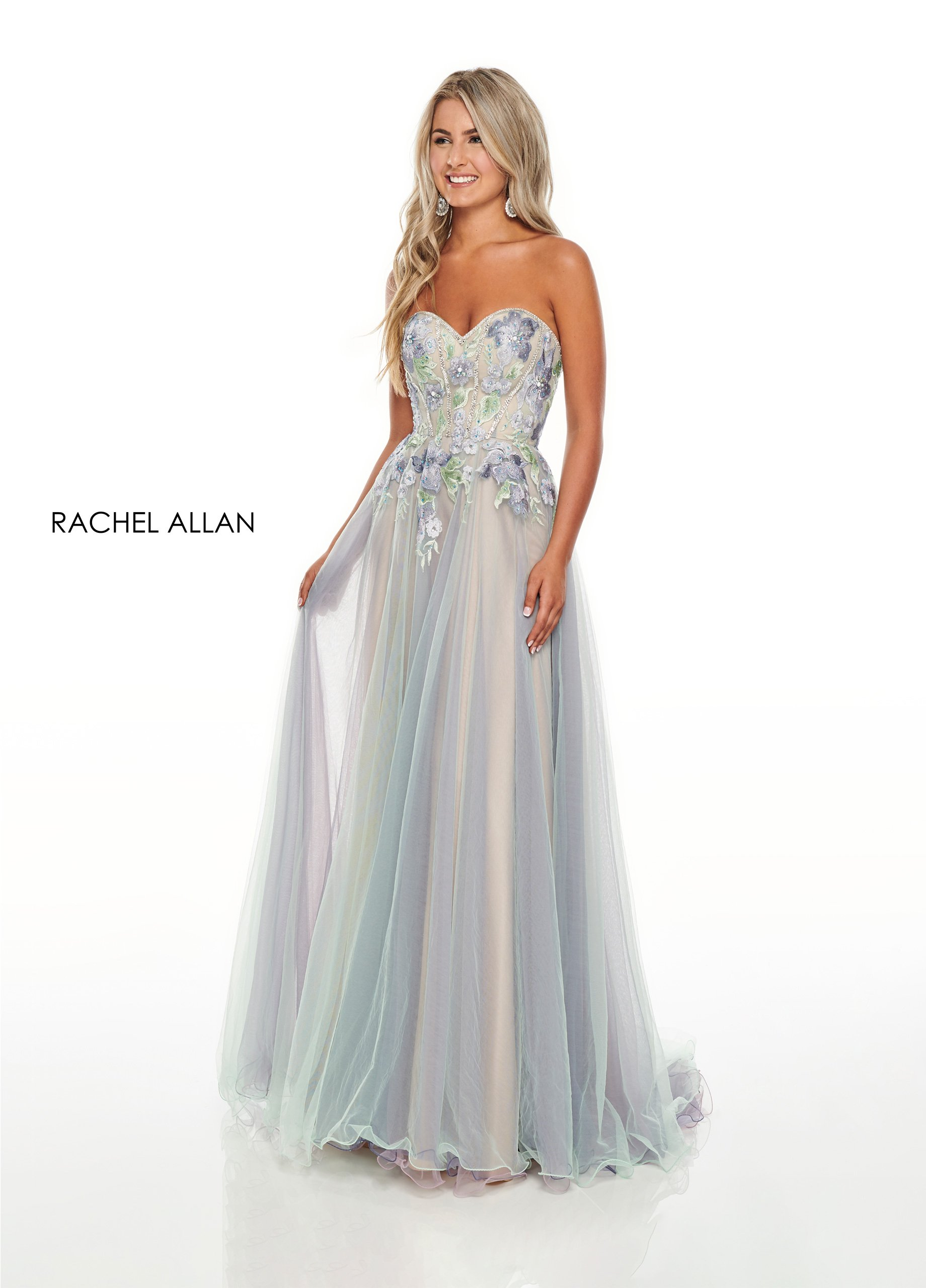 Strapless A-Line Prom Dresses in Mint Color