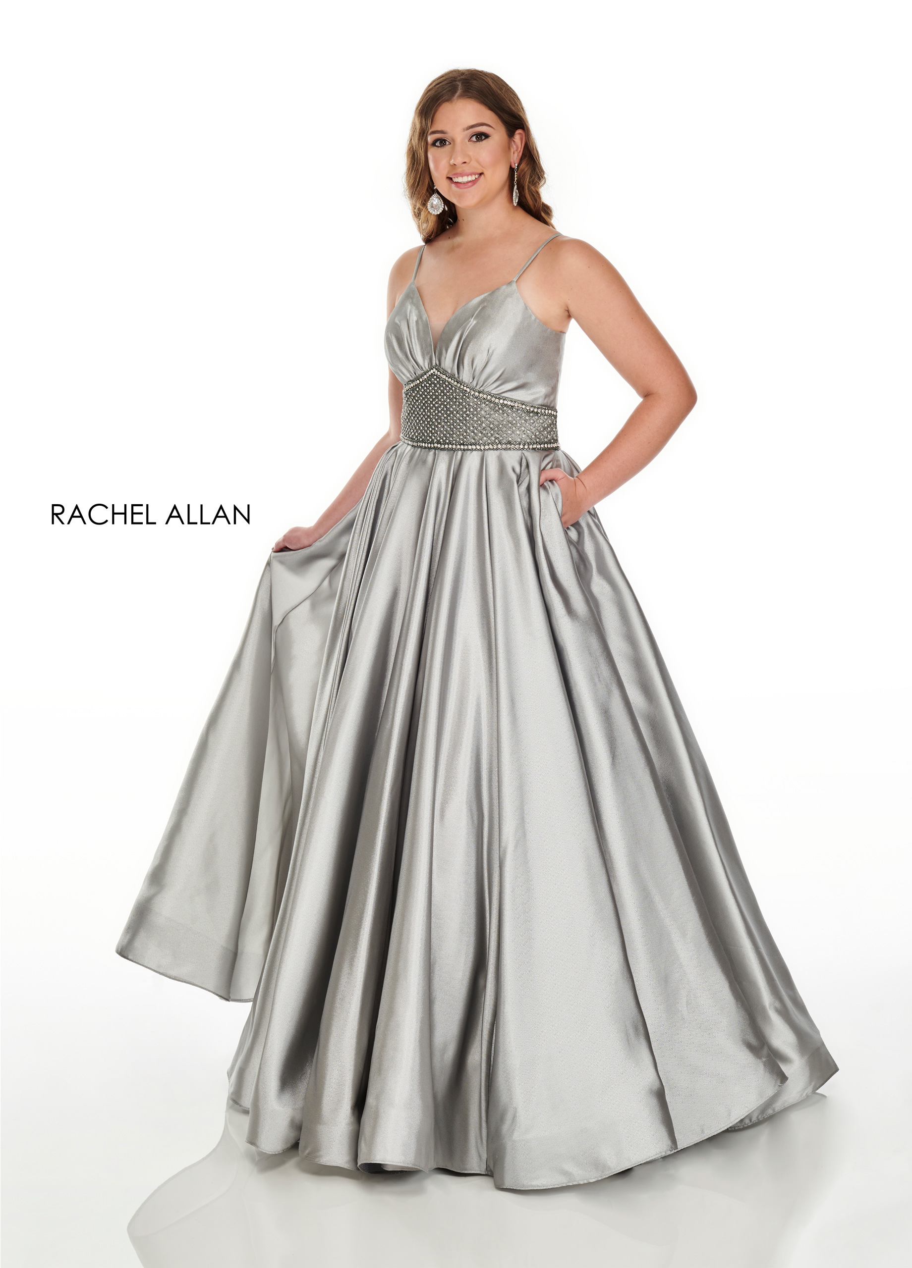 Strappy A-Line Plus Size Dresses in Gunmetal Color