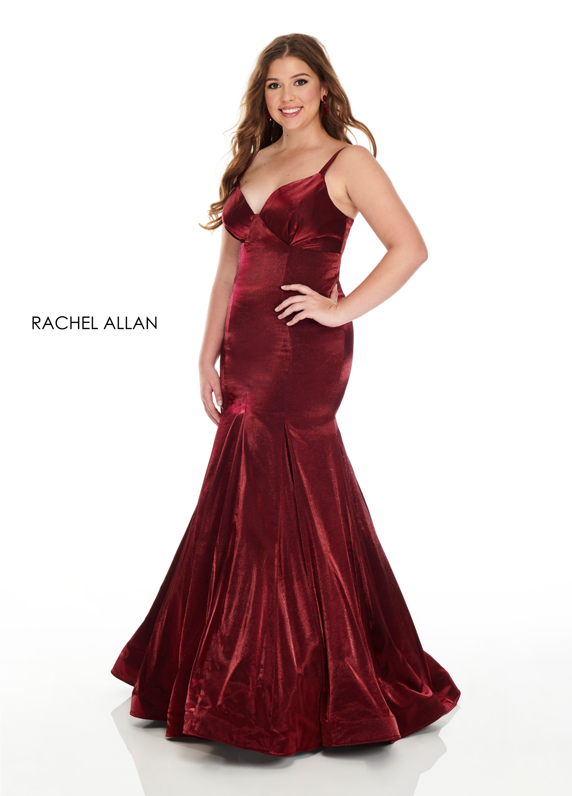 Strappy Mermaid Plus Size Dresses in Red Color