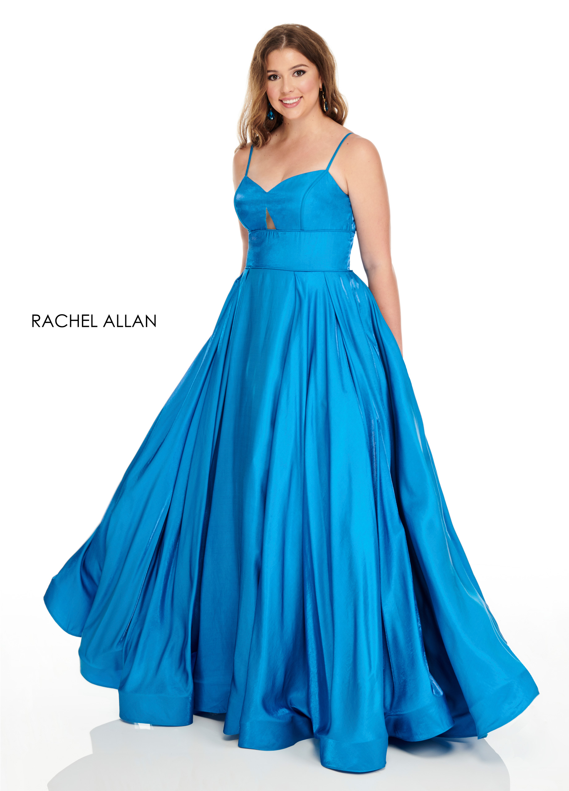 Strappy Ball Gowns Plus Size Dresses in Aqua Color