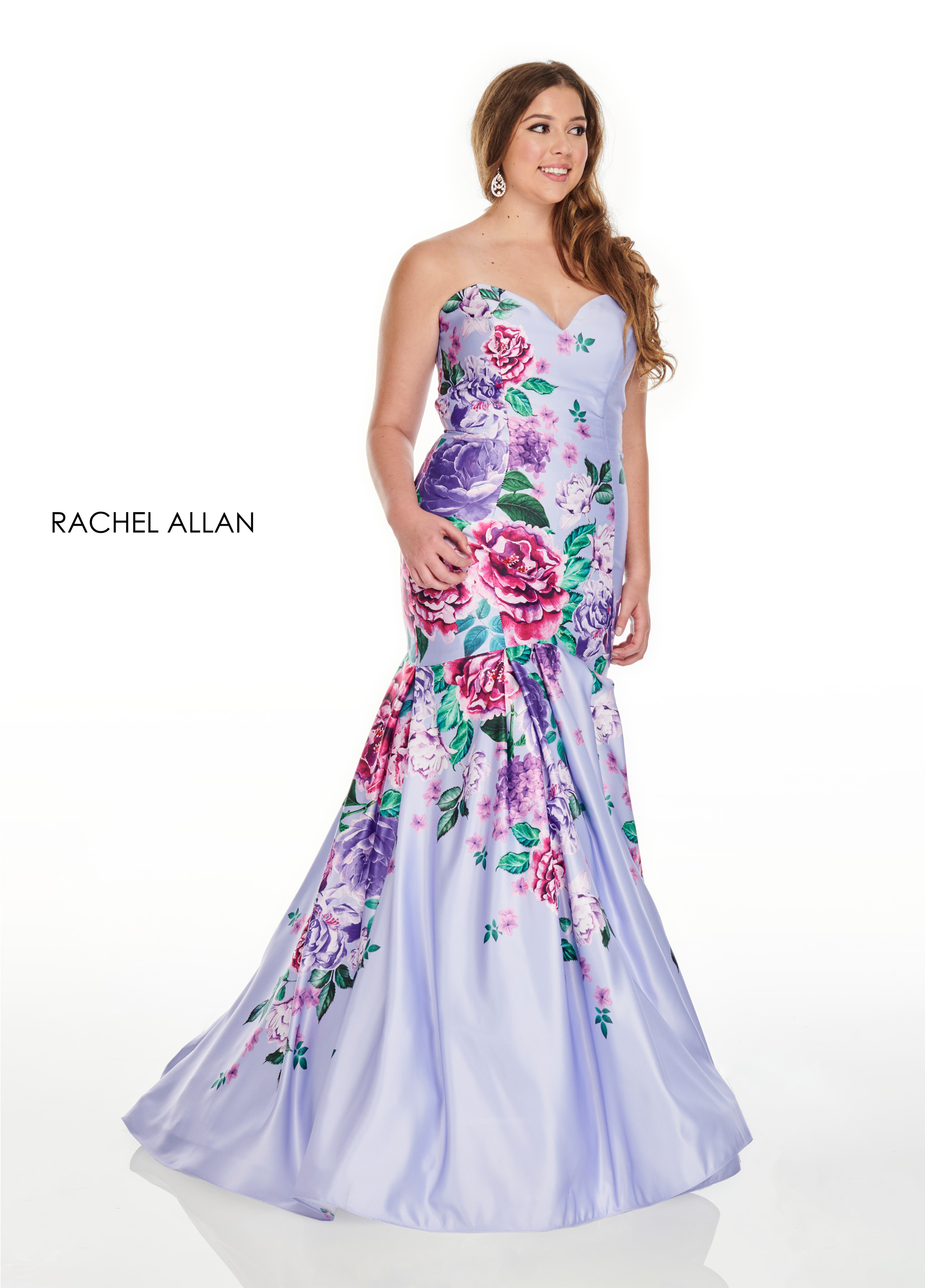 Sweetheart Mermaid Plus Size Dresses in Lilac Color