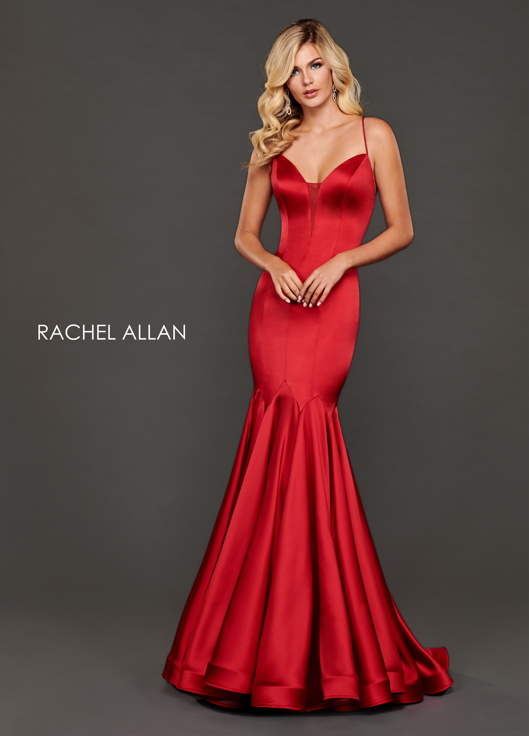 Sweetheart Mermaid Couture Dresses in Red Color