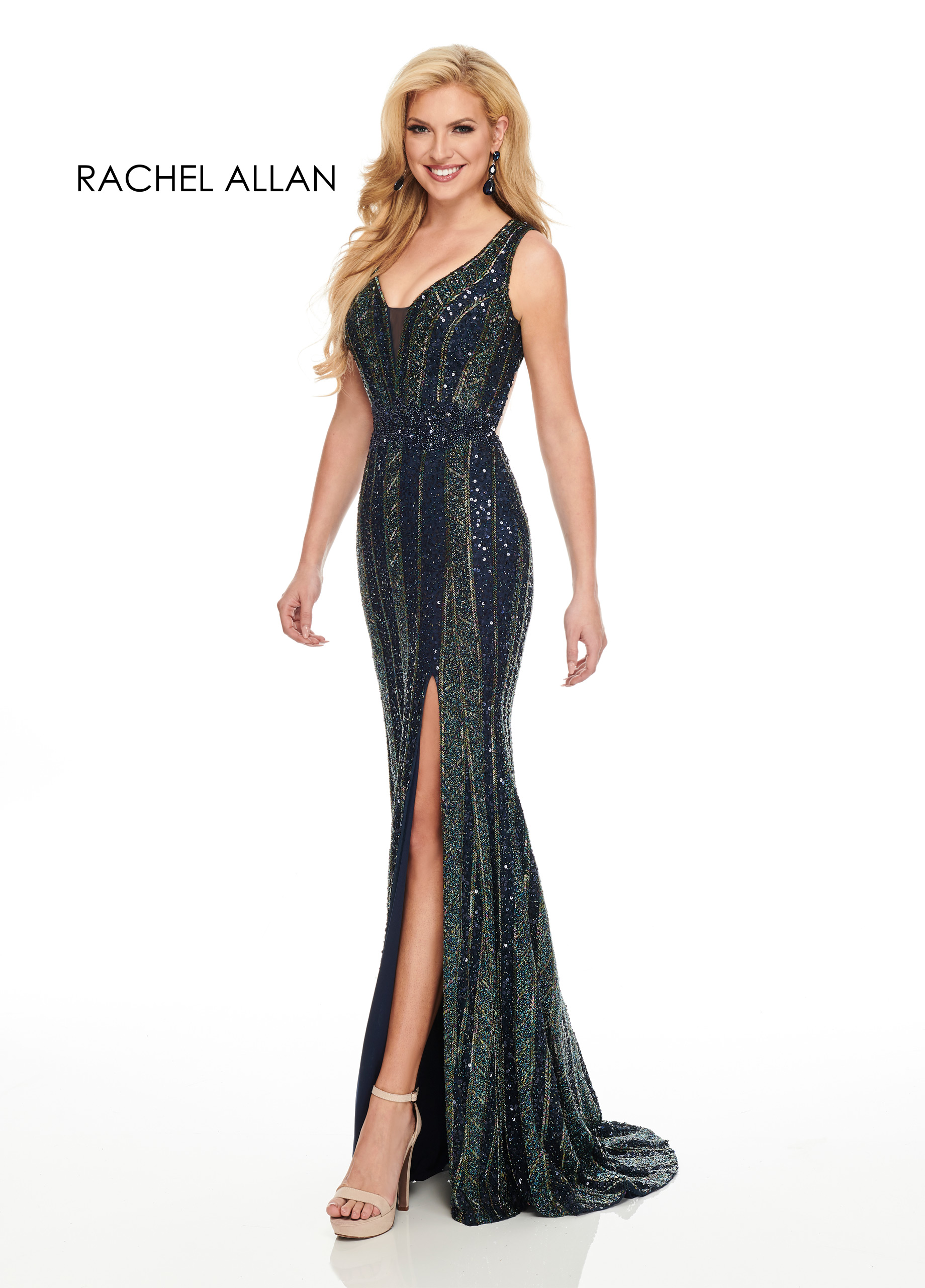 Sweetheart Fitted Long Couture Dresses in Navy Color