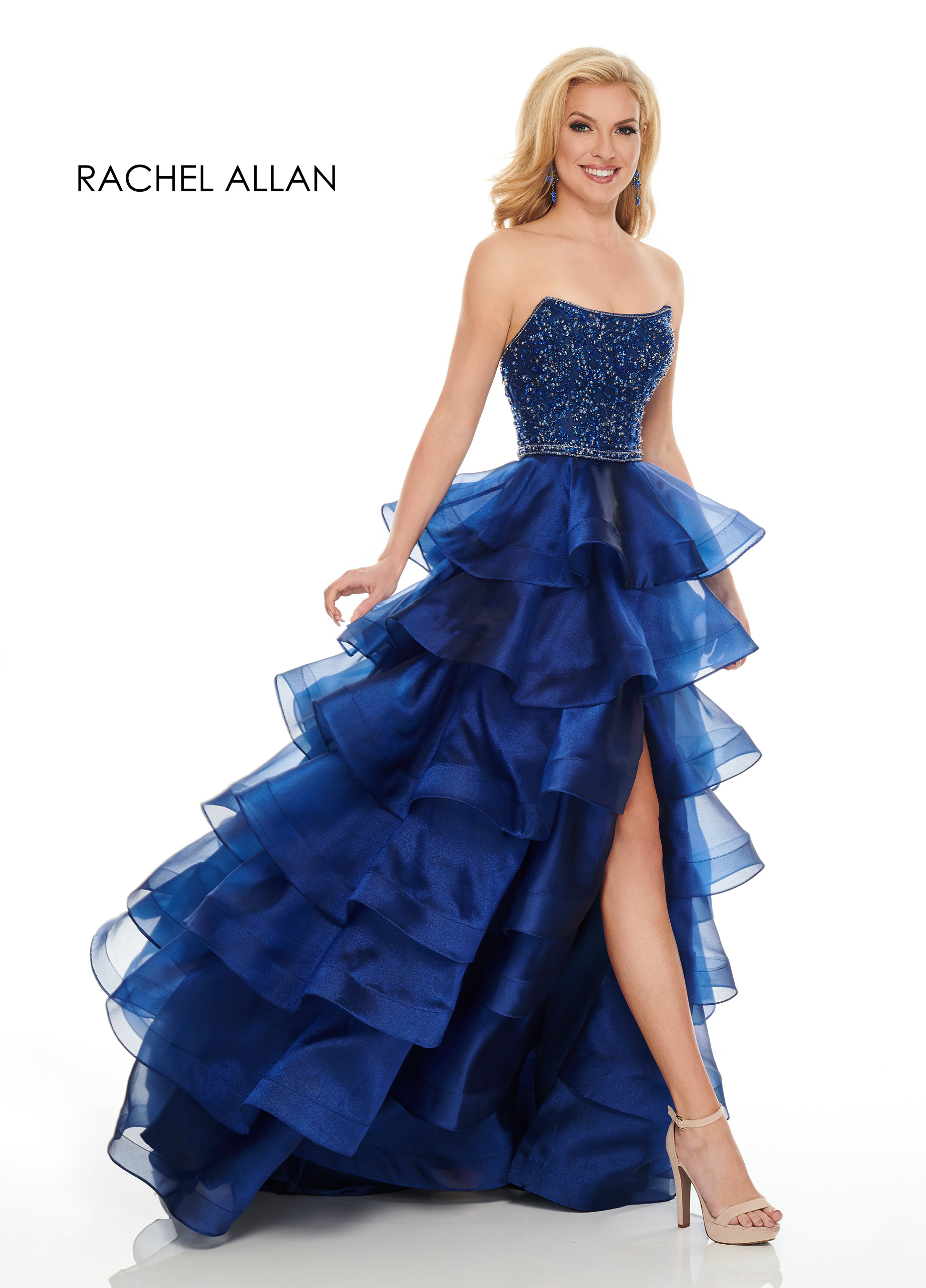 Strappy A-Line Couture Dresses in Navy Color
