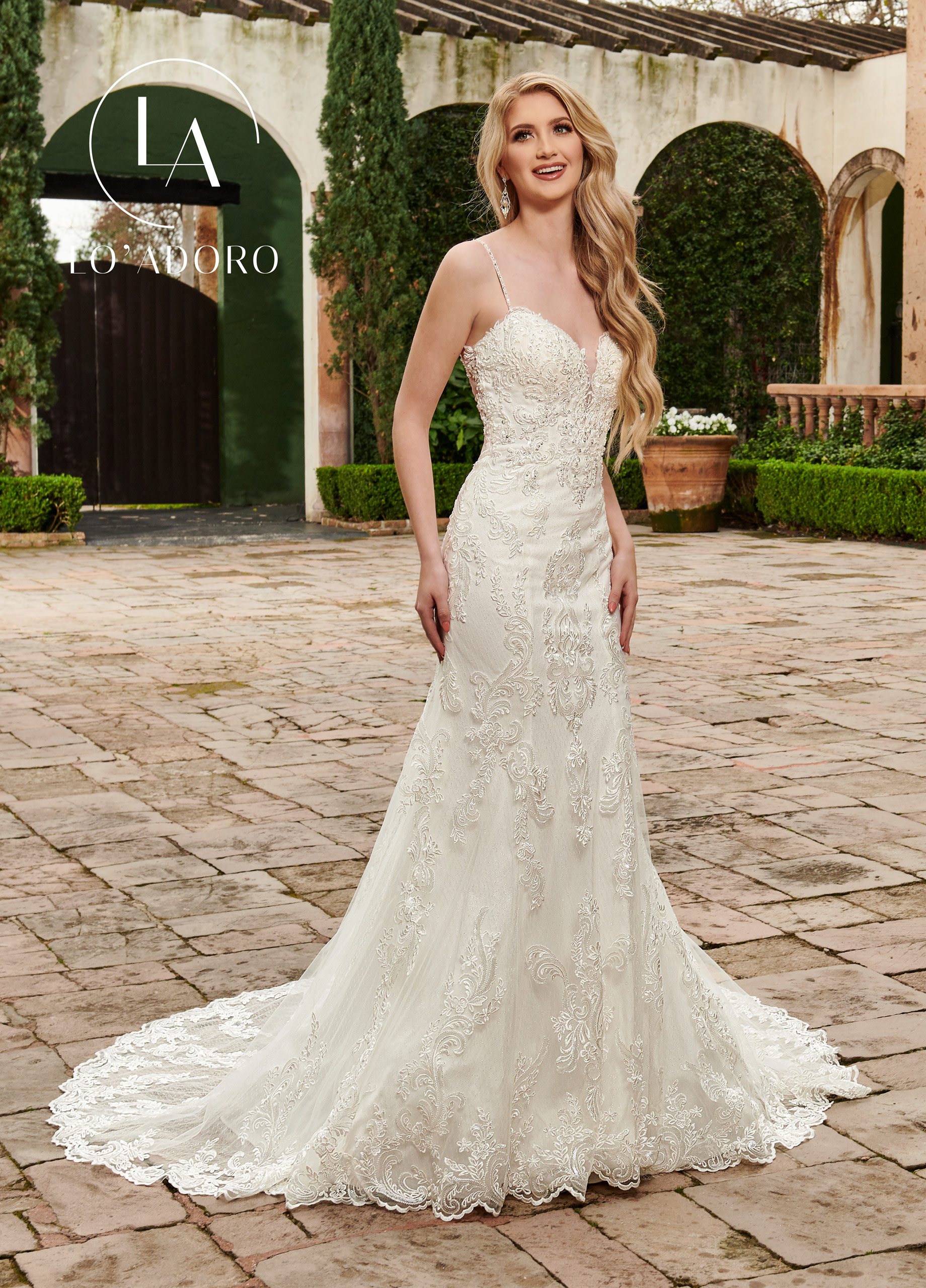 Sweetheart Fit & Flare Lo' Adoro Bridal in Ivory Color
