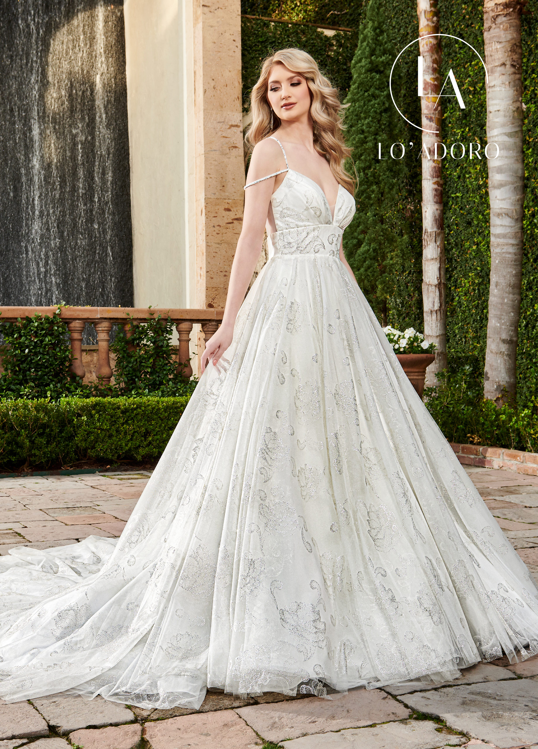Sweetheart A-Line Lo' Adoro Bridal in Ivory Color