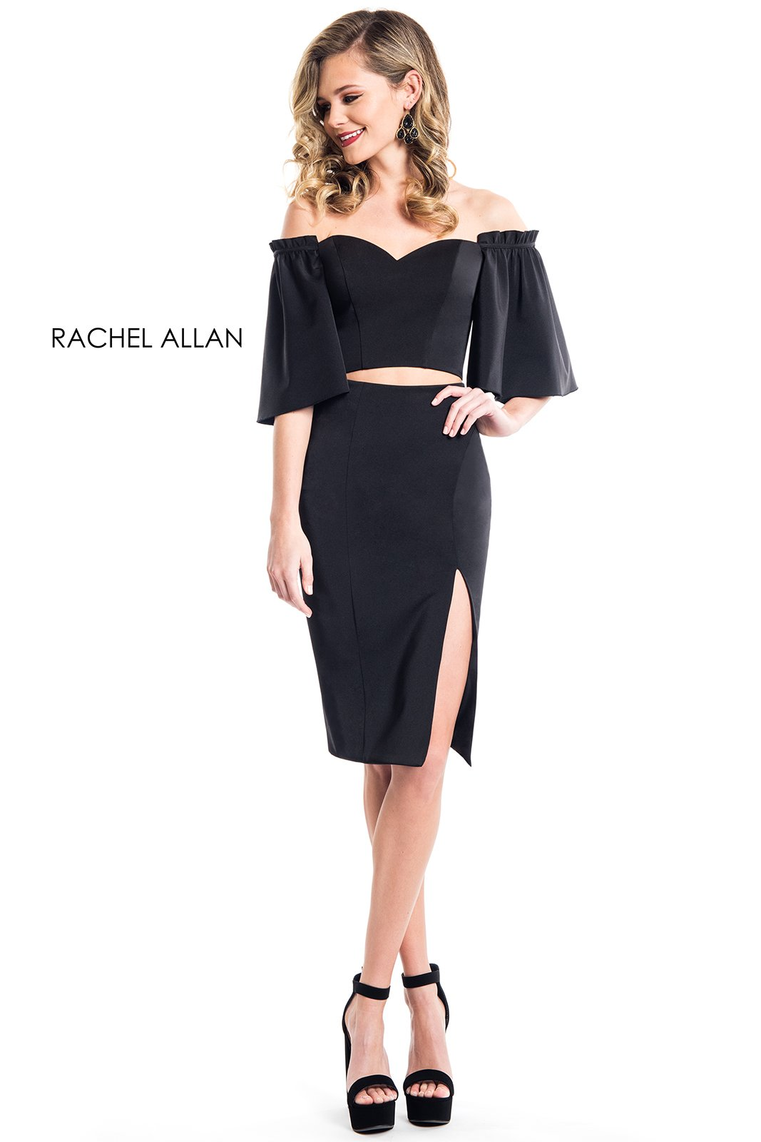Sweetheart Two-Piece Cocktail Dresses in Black Color