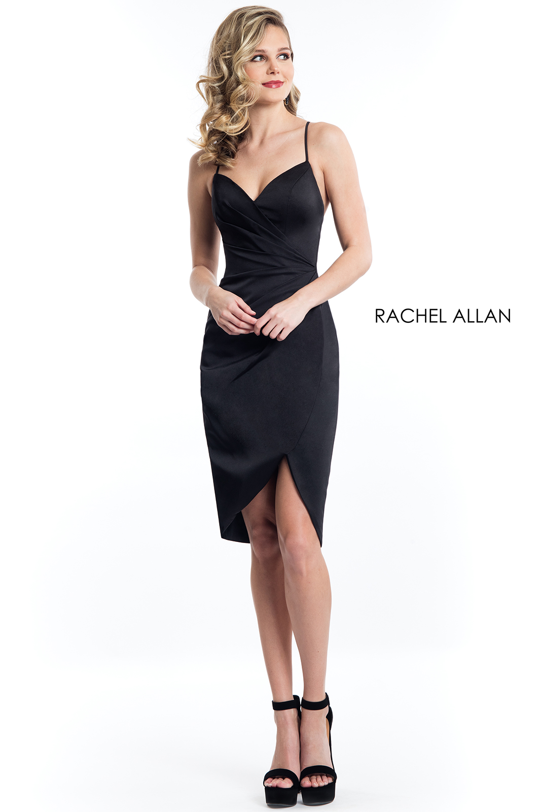 Sweetheart Knee Length Cocktail Dresses in Black Color