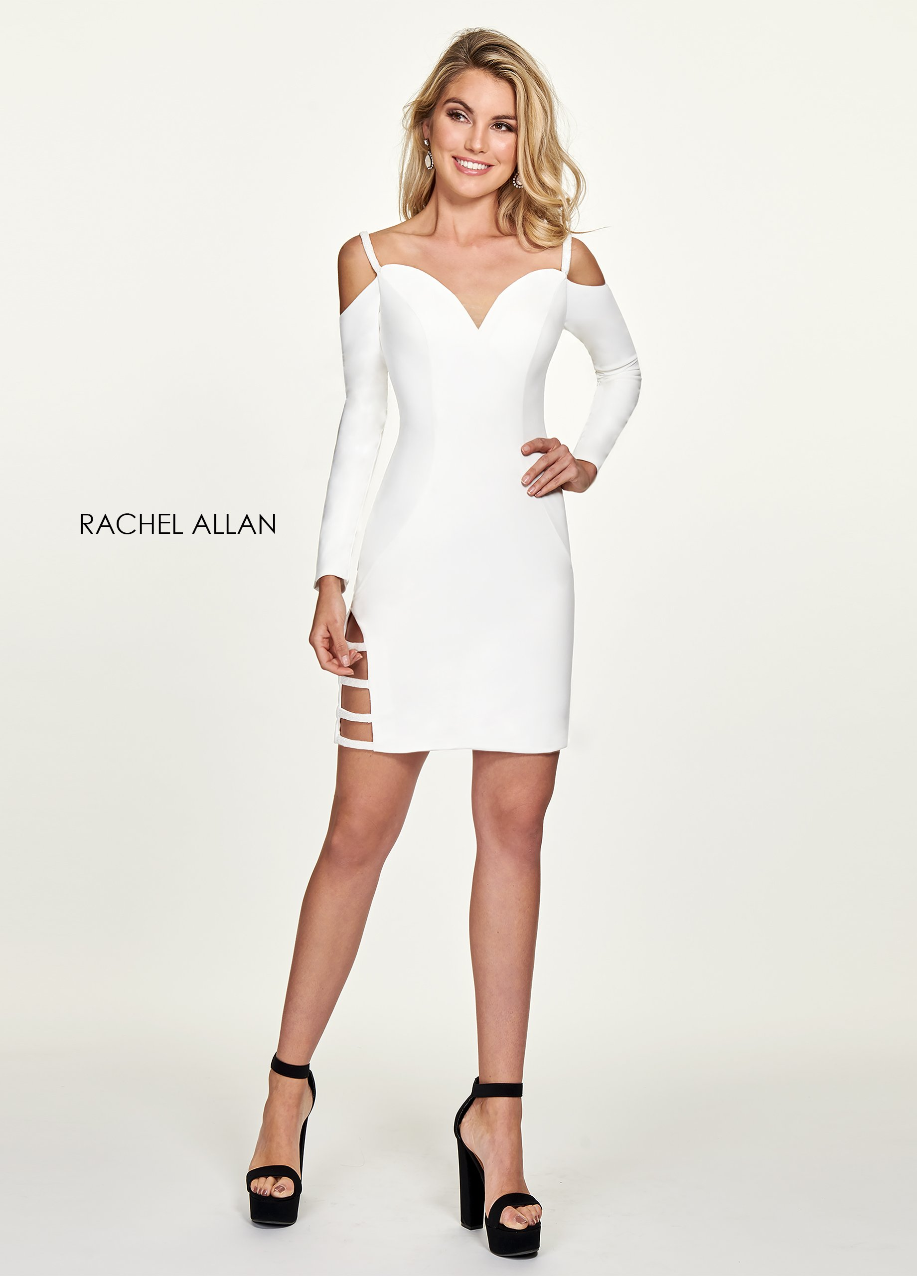 Sweetheart Fitted Mini Cocktail Dresses in White Color