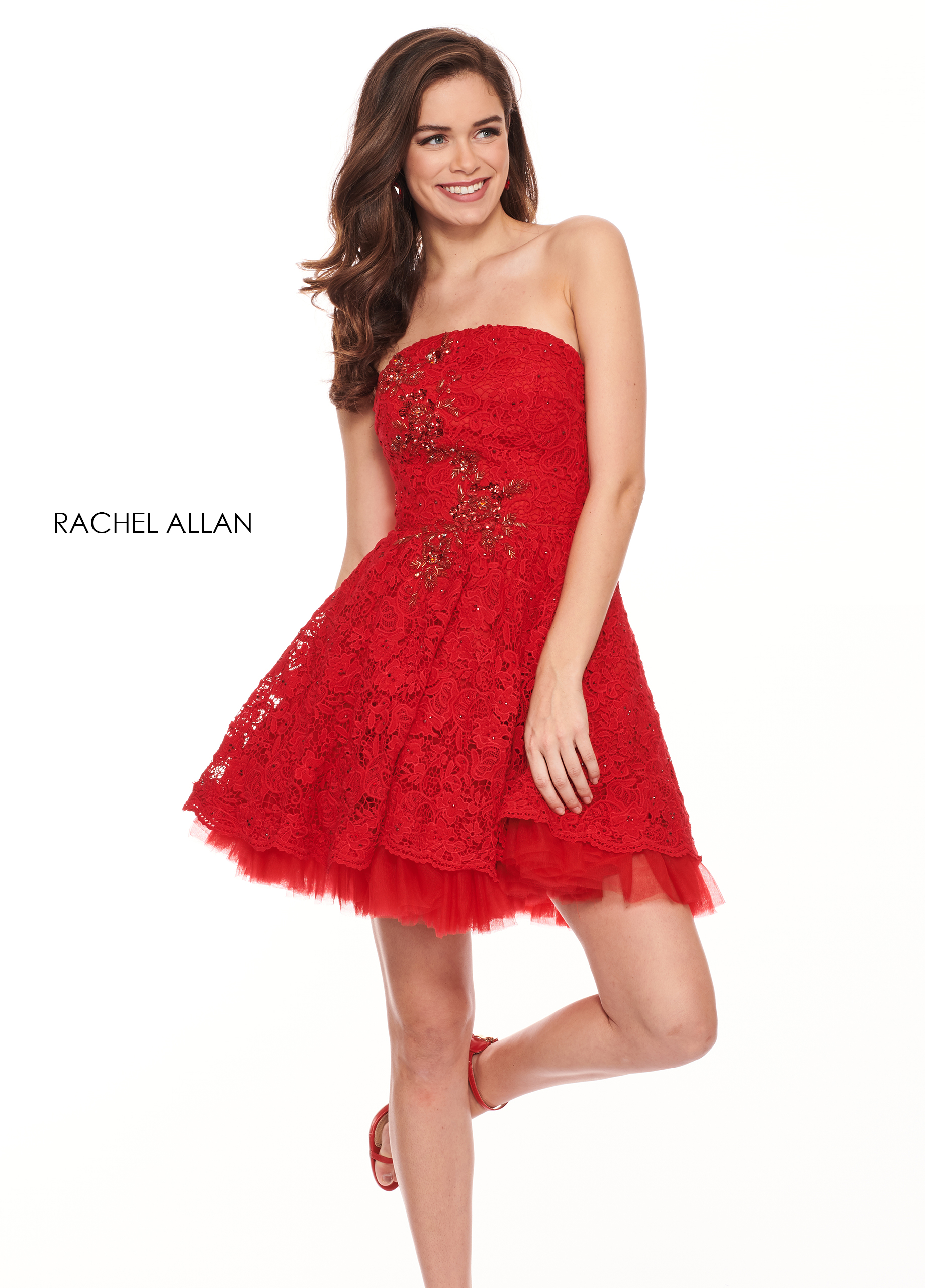Strapless A-Line BEST SELLERS in Red Color