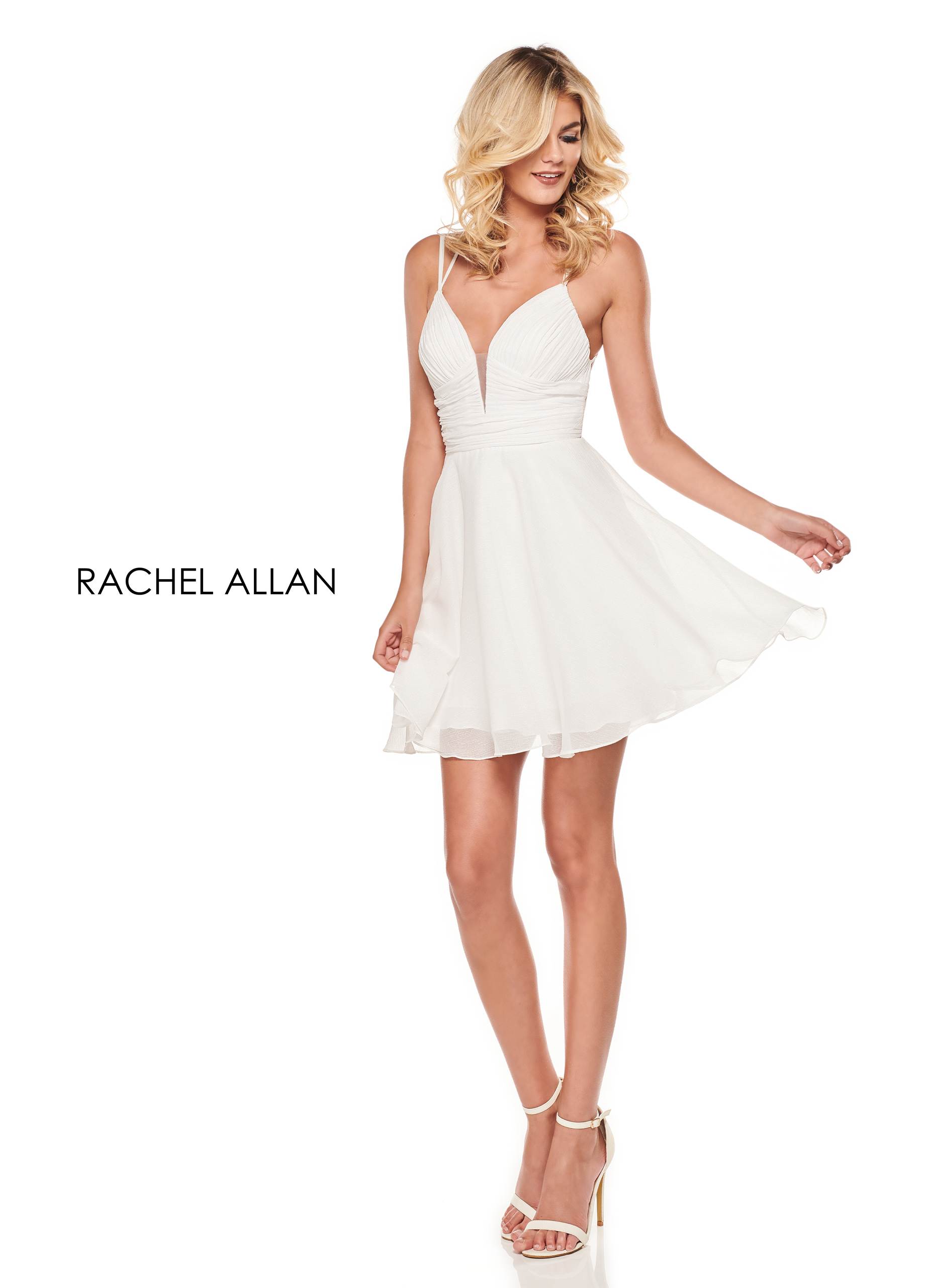 Sweetheart Full Skirt Mini Cocktail Dresses in White Color