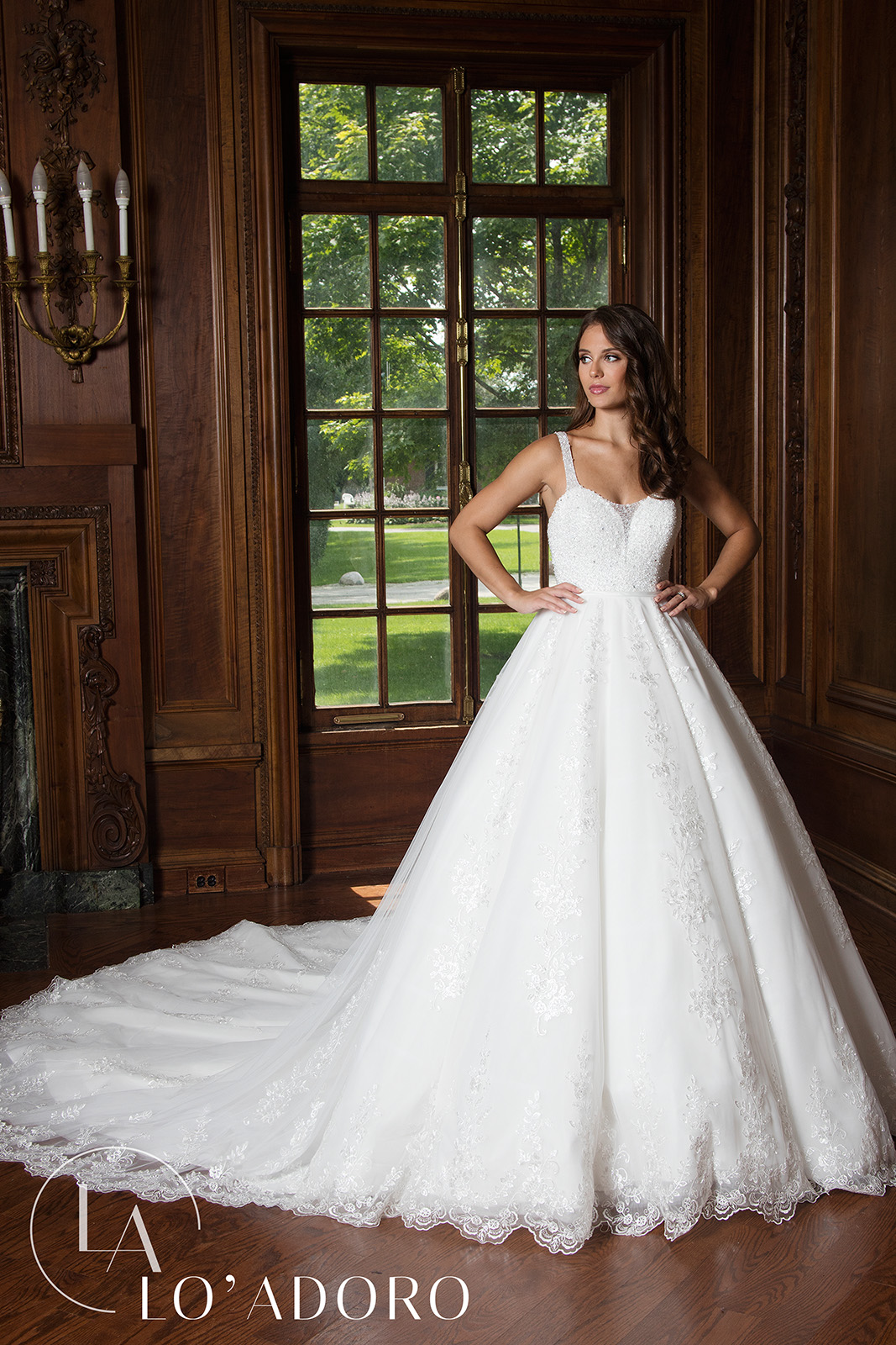 Sweetheart Ball Gowns Lo' Adoro Bridal in Ivory Color