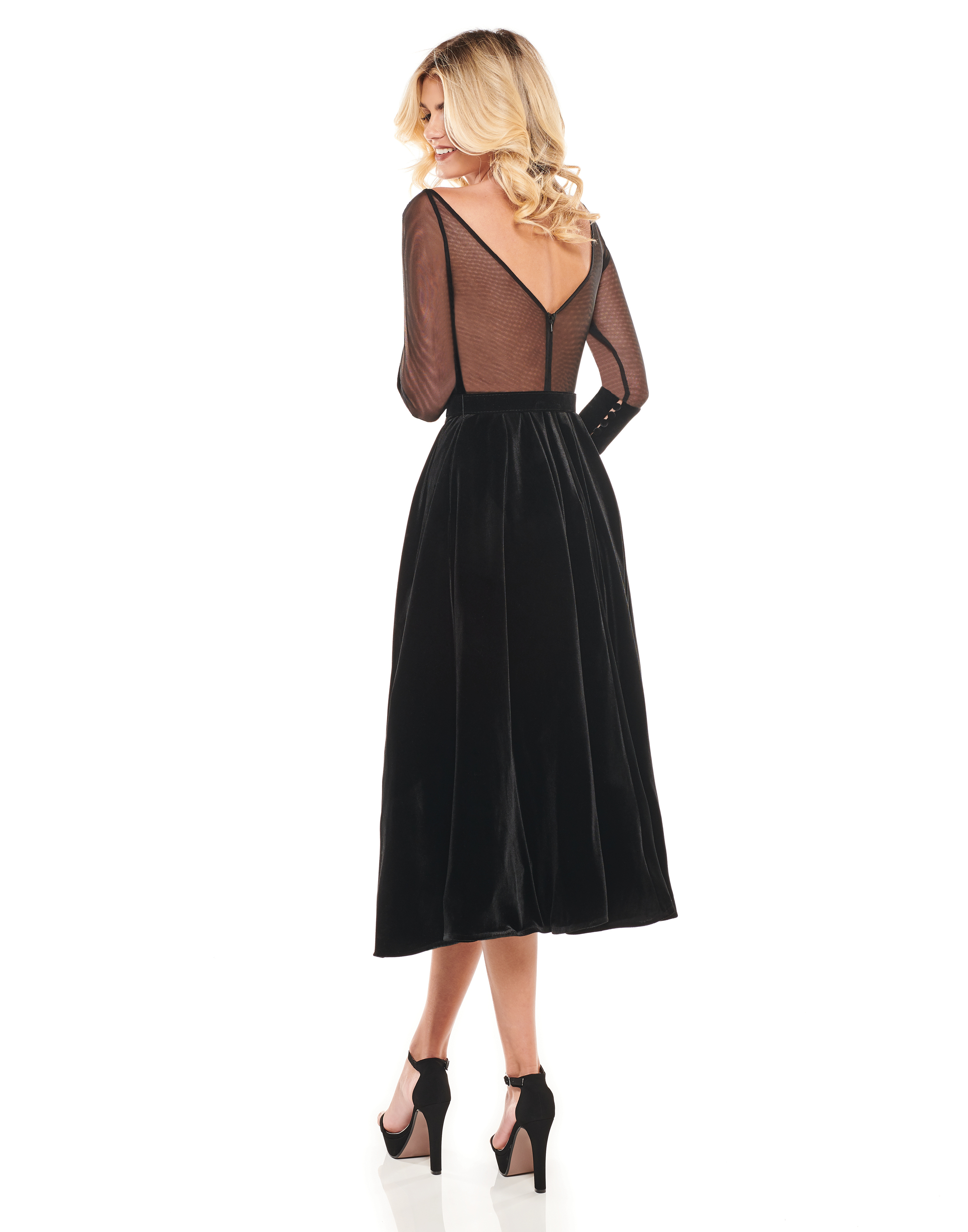 Sweetheart A-Line Cocktail Dresses in Black Color