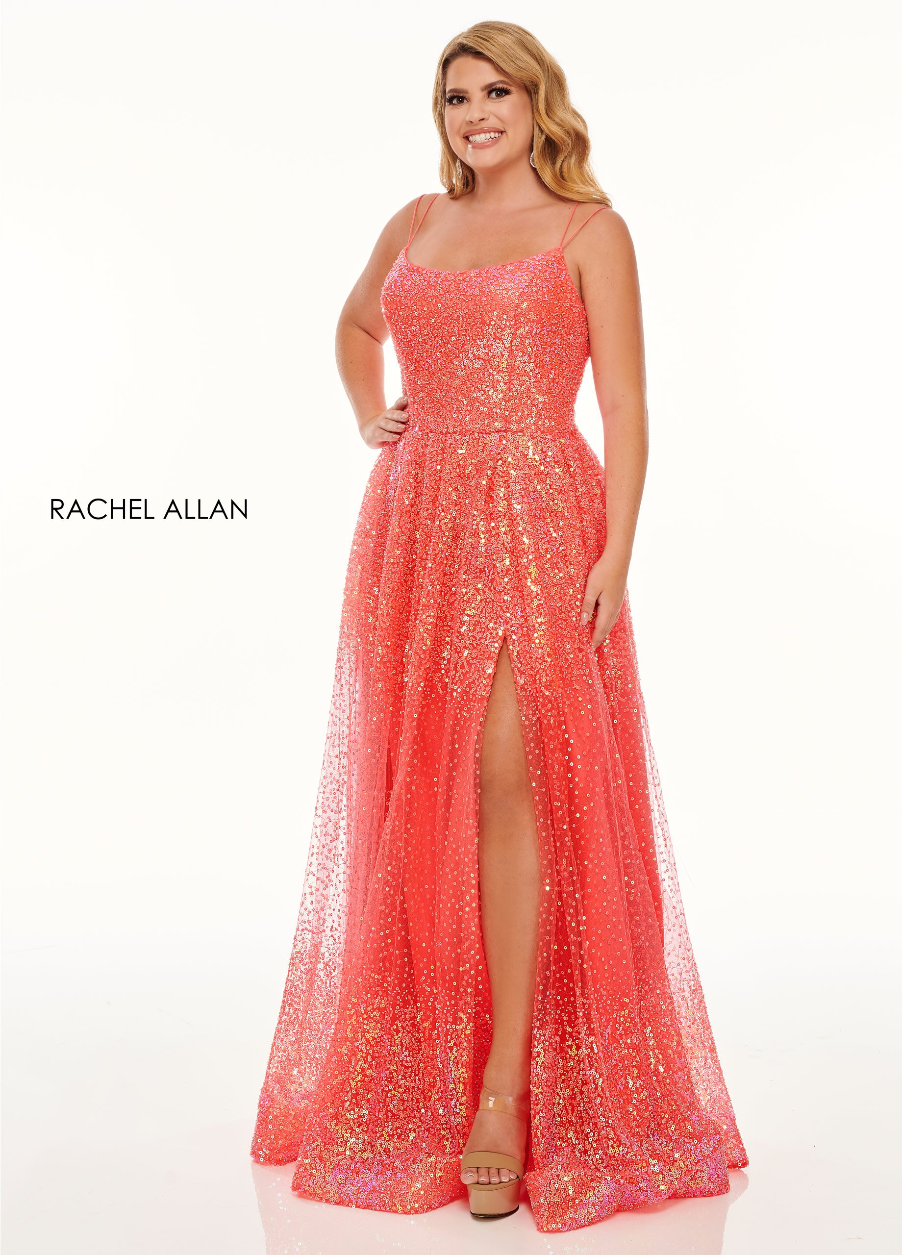 Scoop Neck A-Line BEST SELLERS in Coral Color